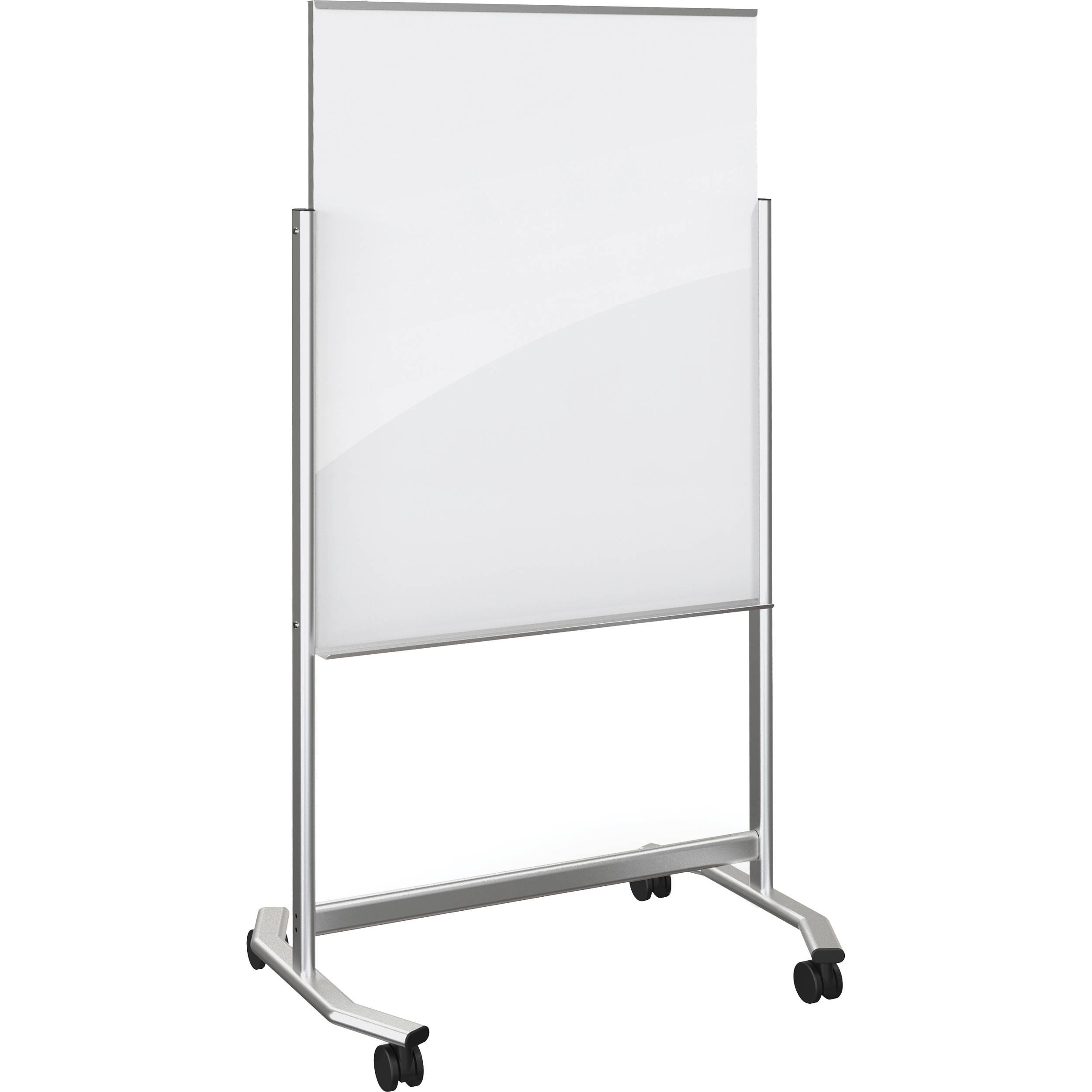 balt visionary move mobile magnetic glass whiteboard 74950 b h. Black Bedroom Furniture Sets. Home Design Ideas