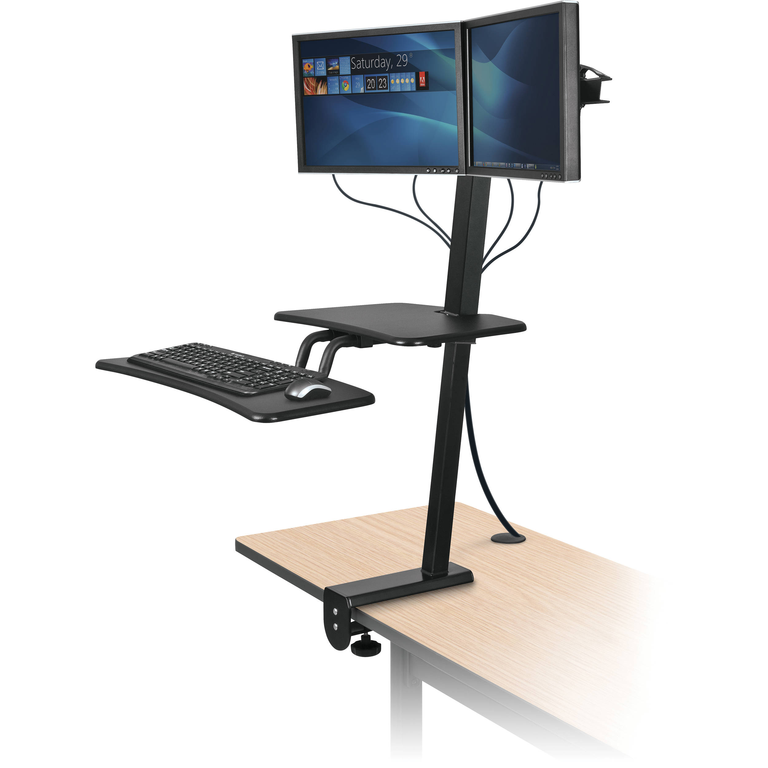 Balt Up Rite Desk Mounted Sit And Stand Workstation 90531 B Amp H