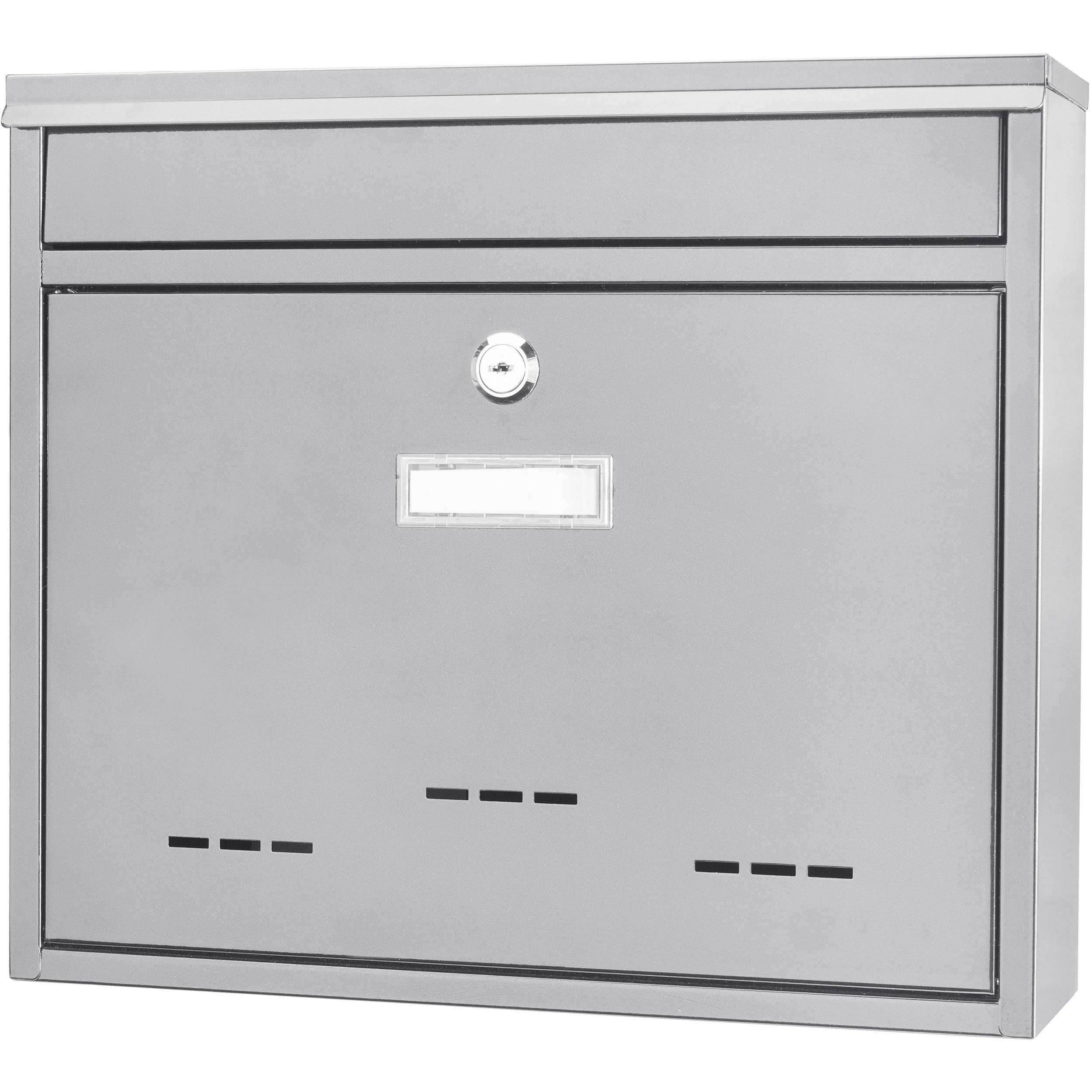 Picture of: Barska Locking Wall Mount Mailbox Medium White Cb13252 B H