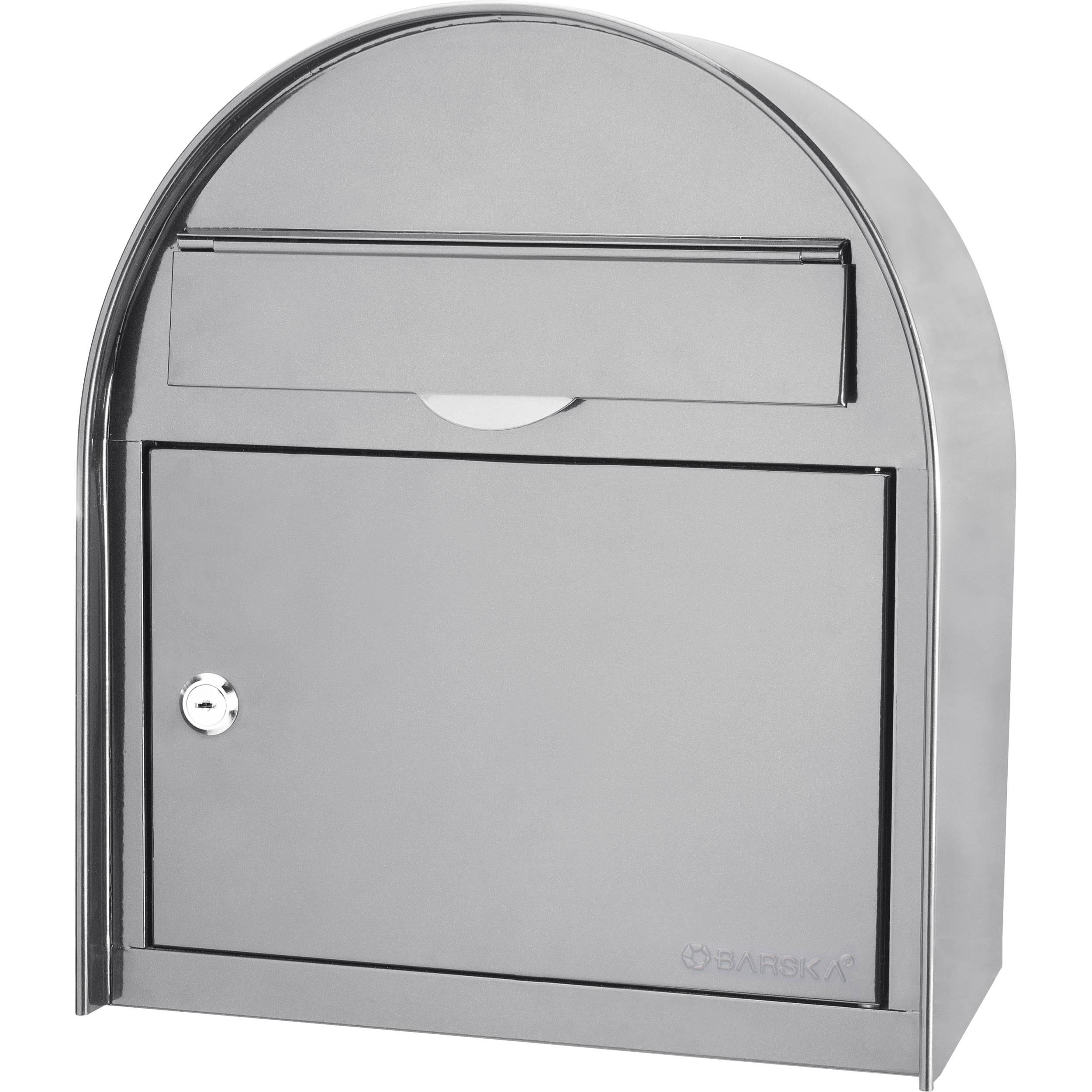 Barska Locking Wall Mount Mailbox Large White