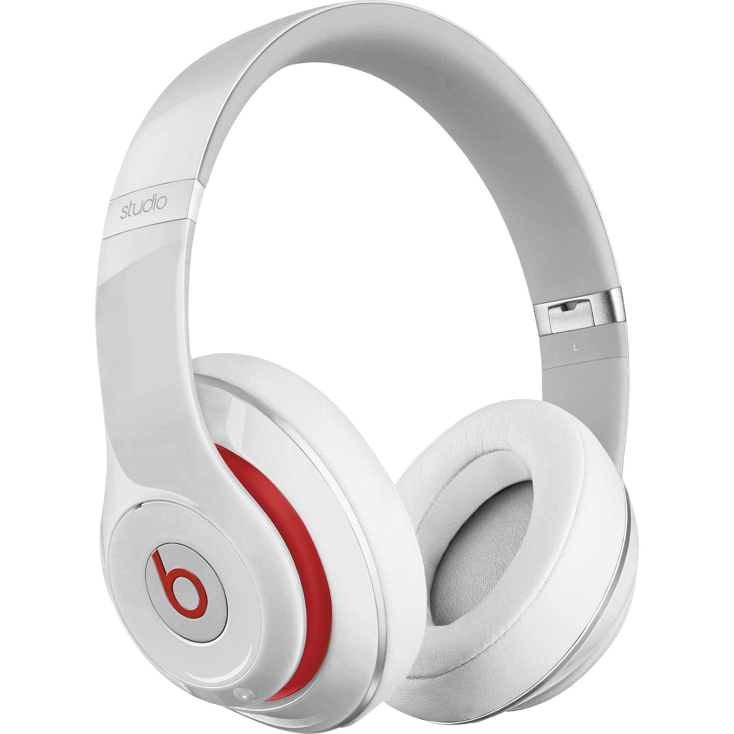 beats by dr dre studio wireless headphones white mh8j2am a. Black Bedroom Furniture Sets. Home Design Ideas