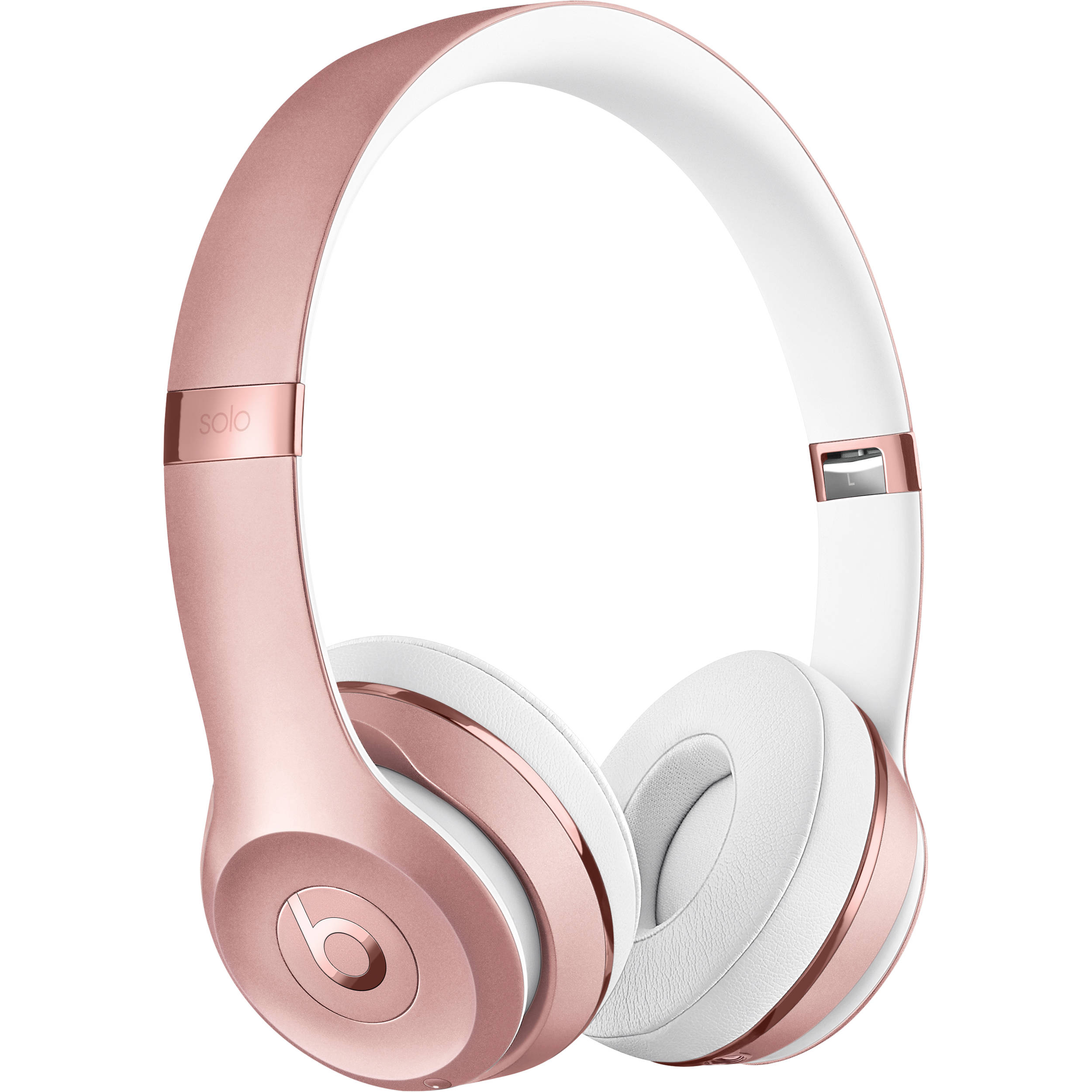 beats by dr dre beats solo3 wireless on ear headphones rose gold beats. Black Bedroom Furniture Sets. Home Design Ideas