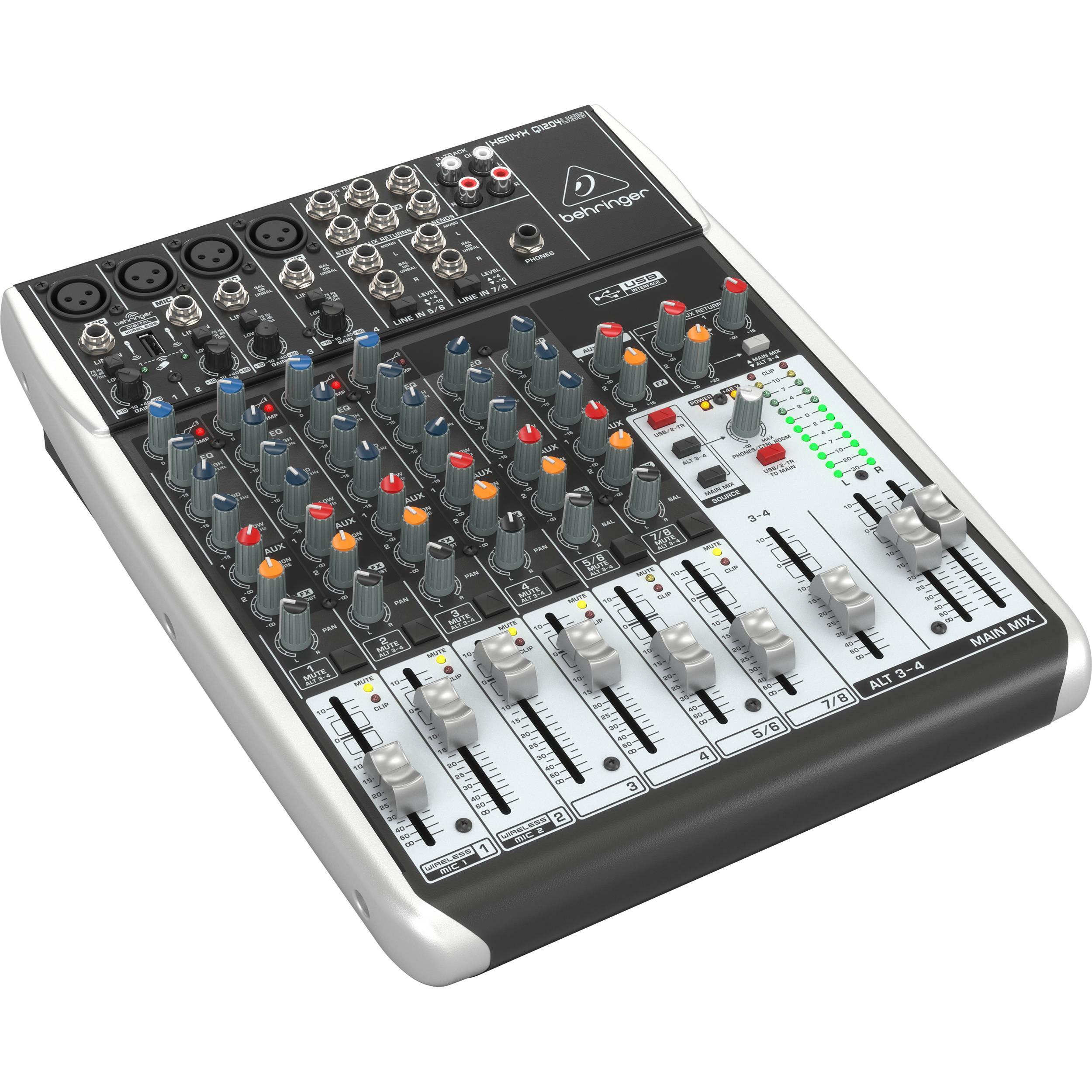 behringer xenyx q1204usb 12 input usb audio mixer q1204usb b h. Black Bedroom Furniture Sets. Home Design Ideas