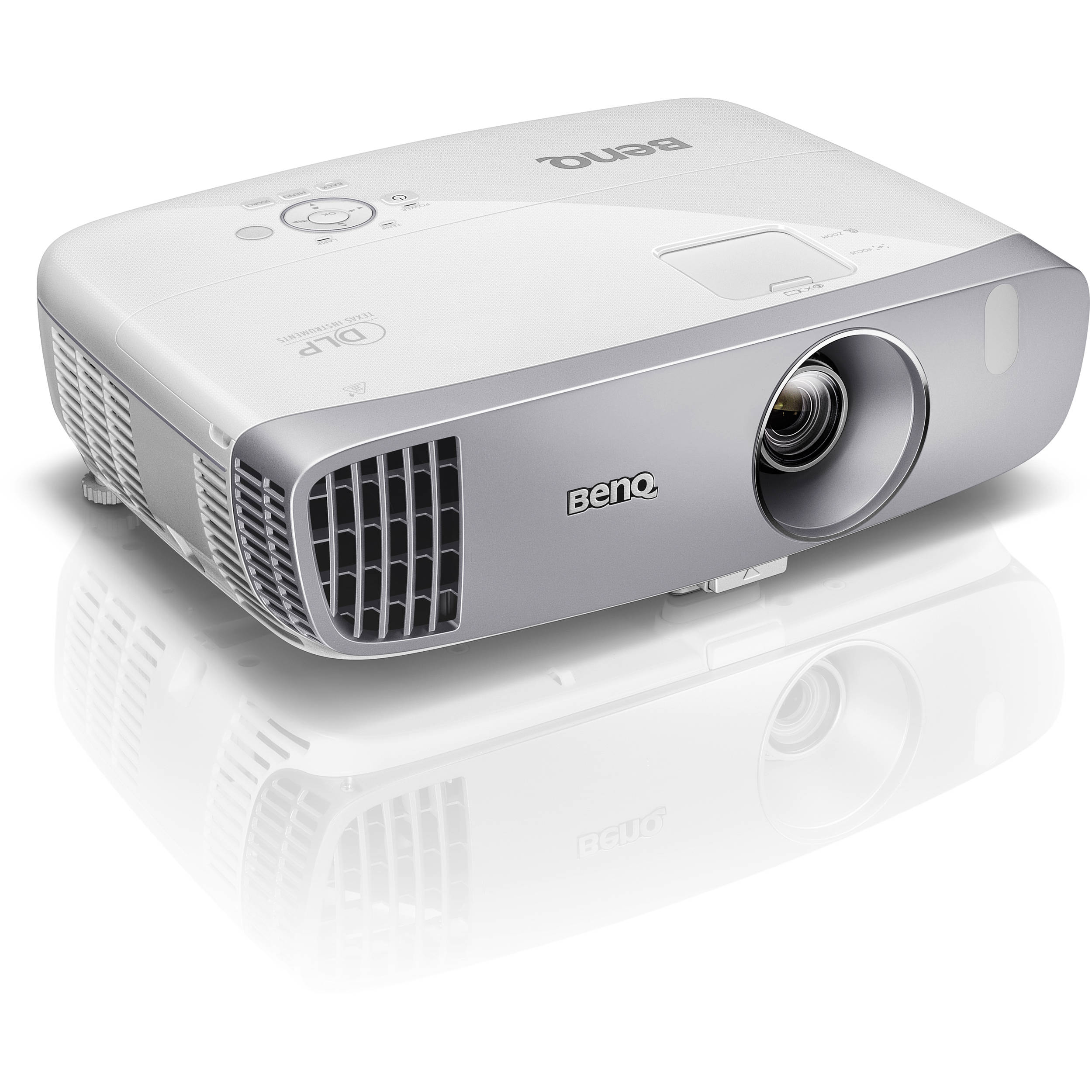 Benq ht2050 full hd 3d dlp home theater projector ht2050 b h for Hd projector