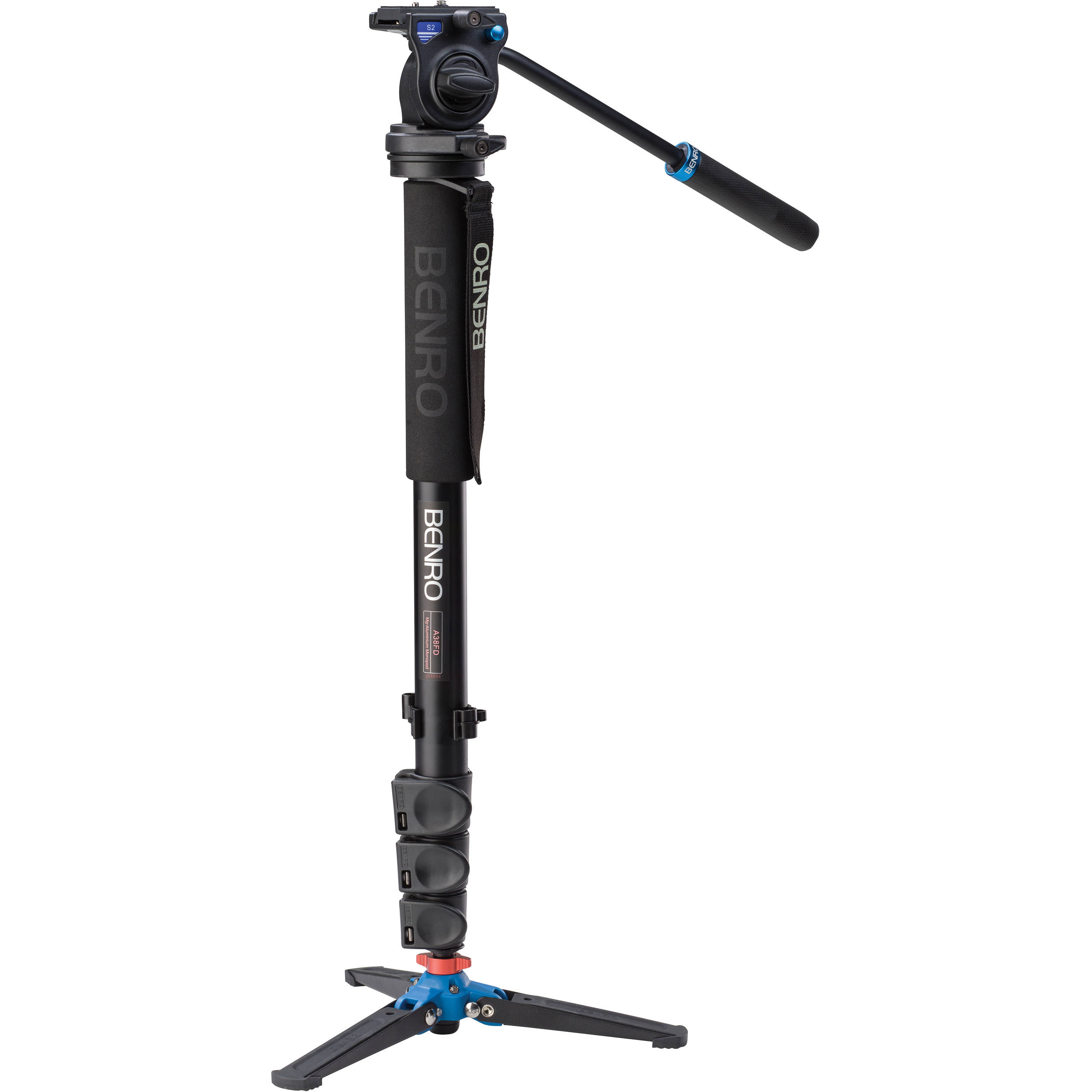 Benro A38FDS2 Series 3 Aluminum Monopod with 3-Leg A38FDS2 B&H