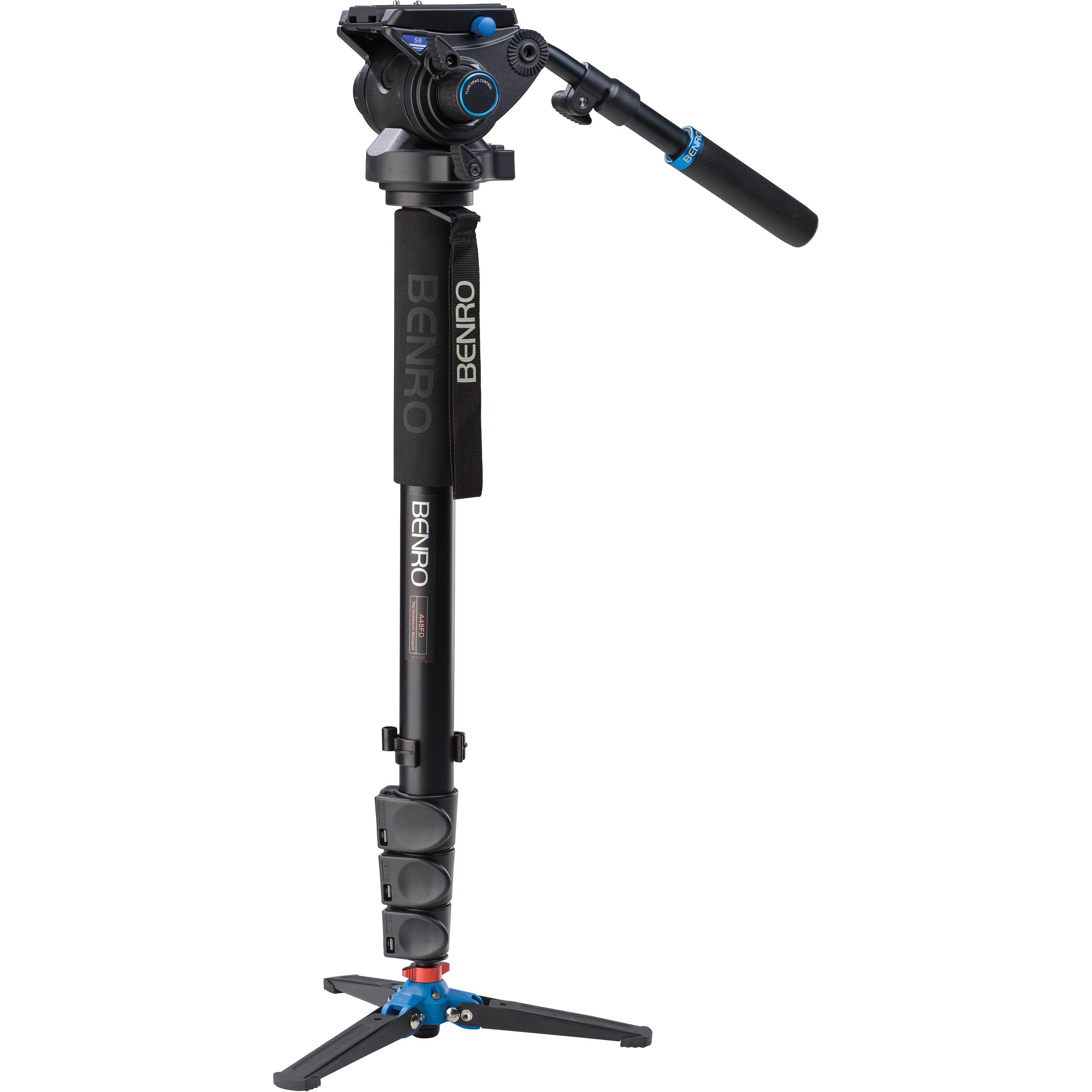 Benro A48FDS6 Series 4 Aluminum Monopod with 3-Leg A48FDS6 B&H