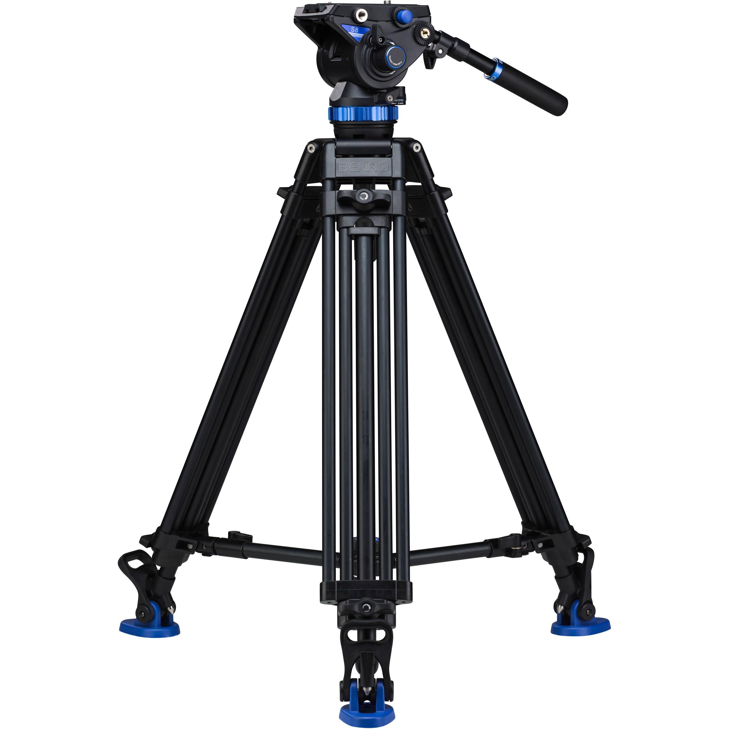 Benro S8 Dual Stage Video Tripod Kit A673TMBS8 B&H Photo Video