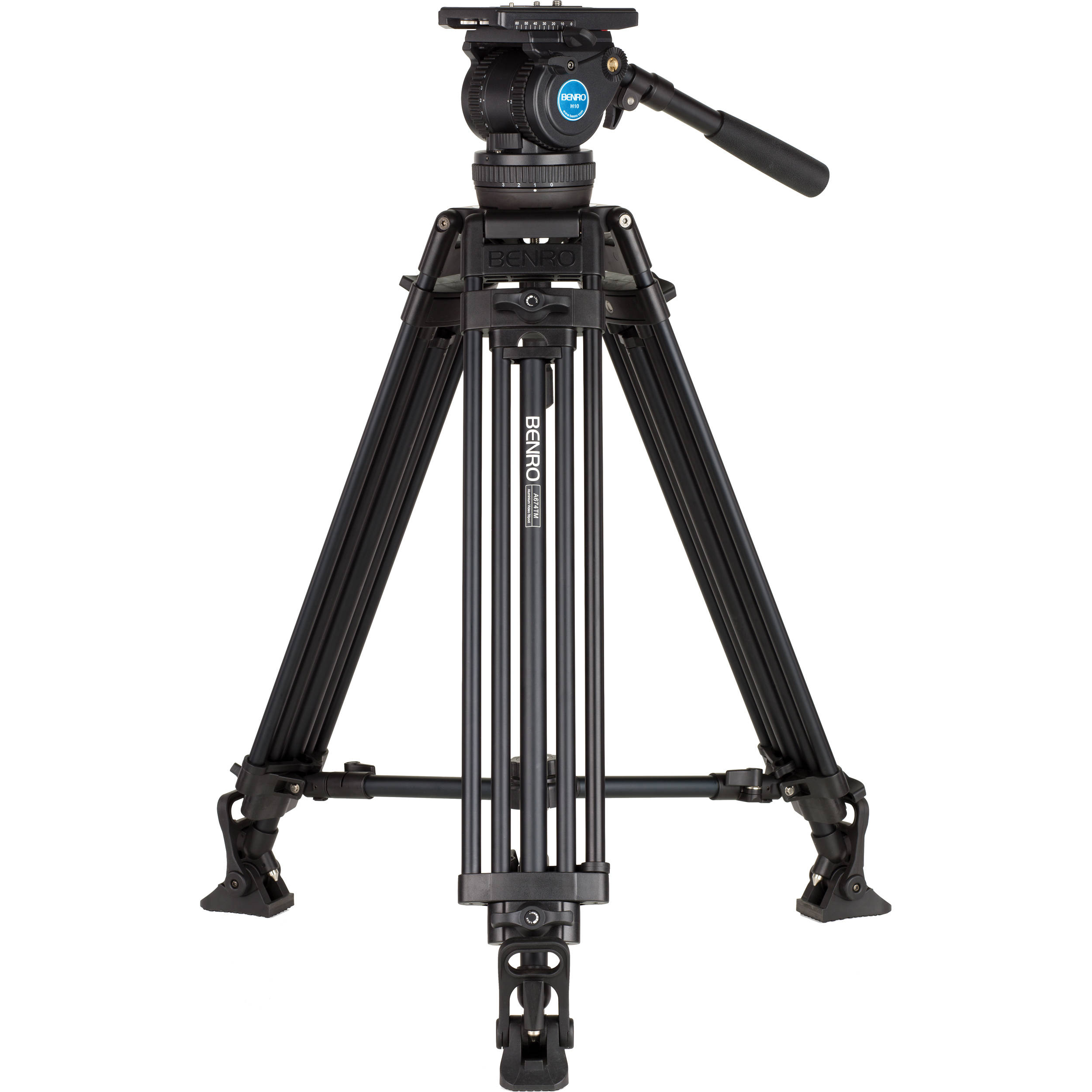 Benro H10 Video Tripod Kit with Aluminum Alloy Legs A674TMH10