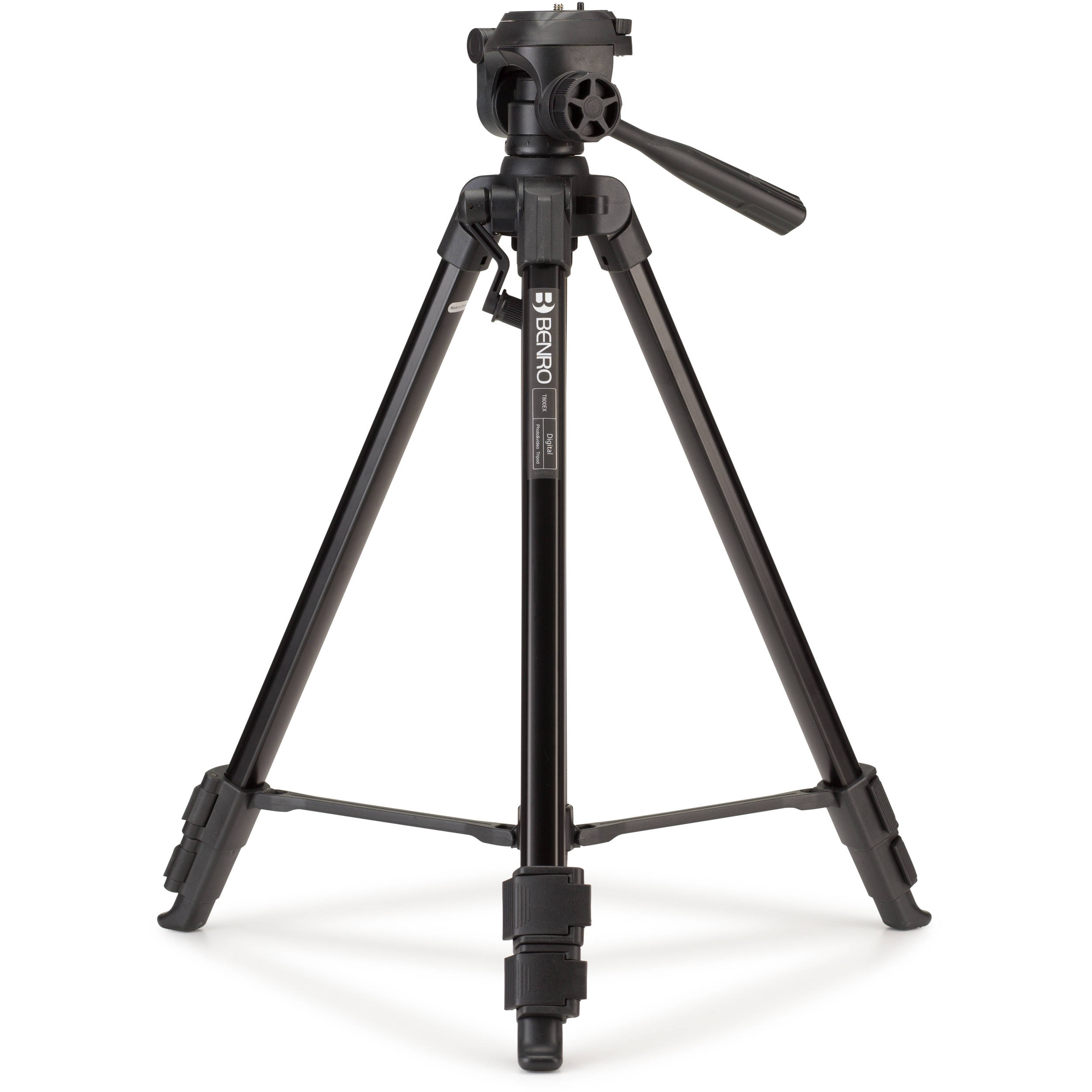 Benro T800EX Digital Aluminum Tripod with 3-Way Pan/Tilt ...