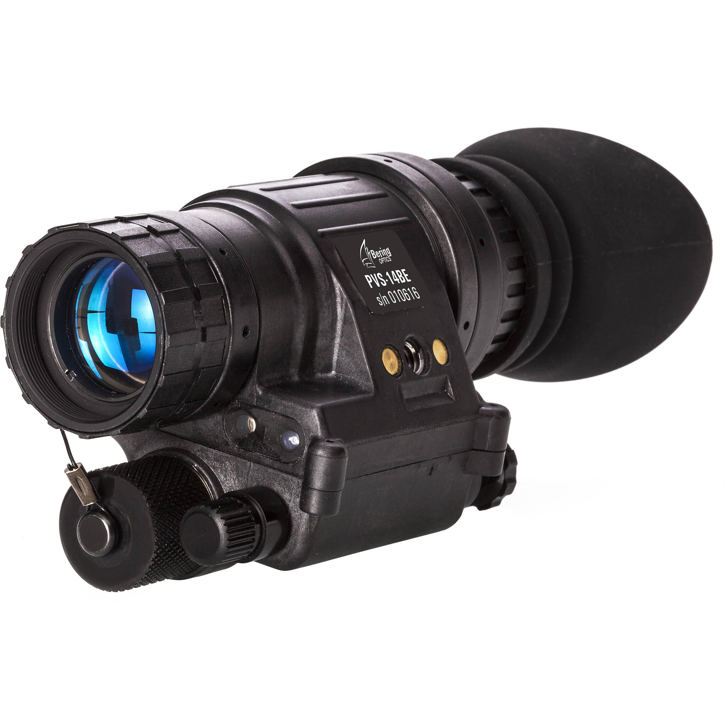 Bering Optics PVS-14BE 1x22 2nd Gen White Phosphor & Manual Gain Night  Vision Monocular