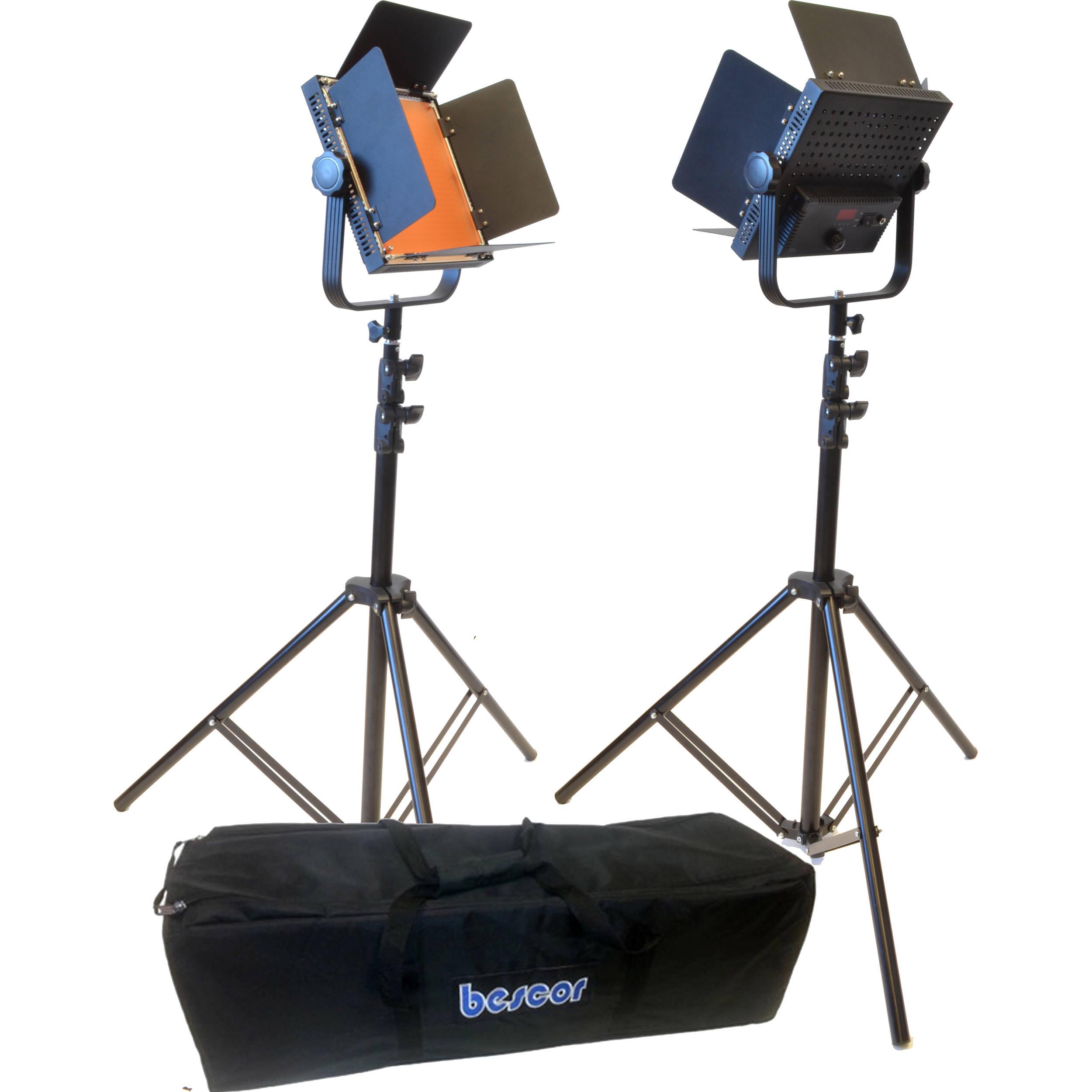 Studio Lighting Kit Argos: Bescor AL-576KB LED Studio 2-Light Battery Kit AL-576KB B&H