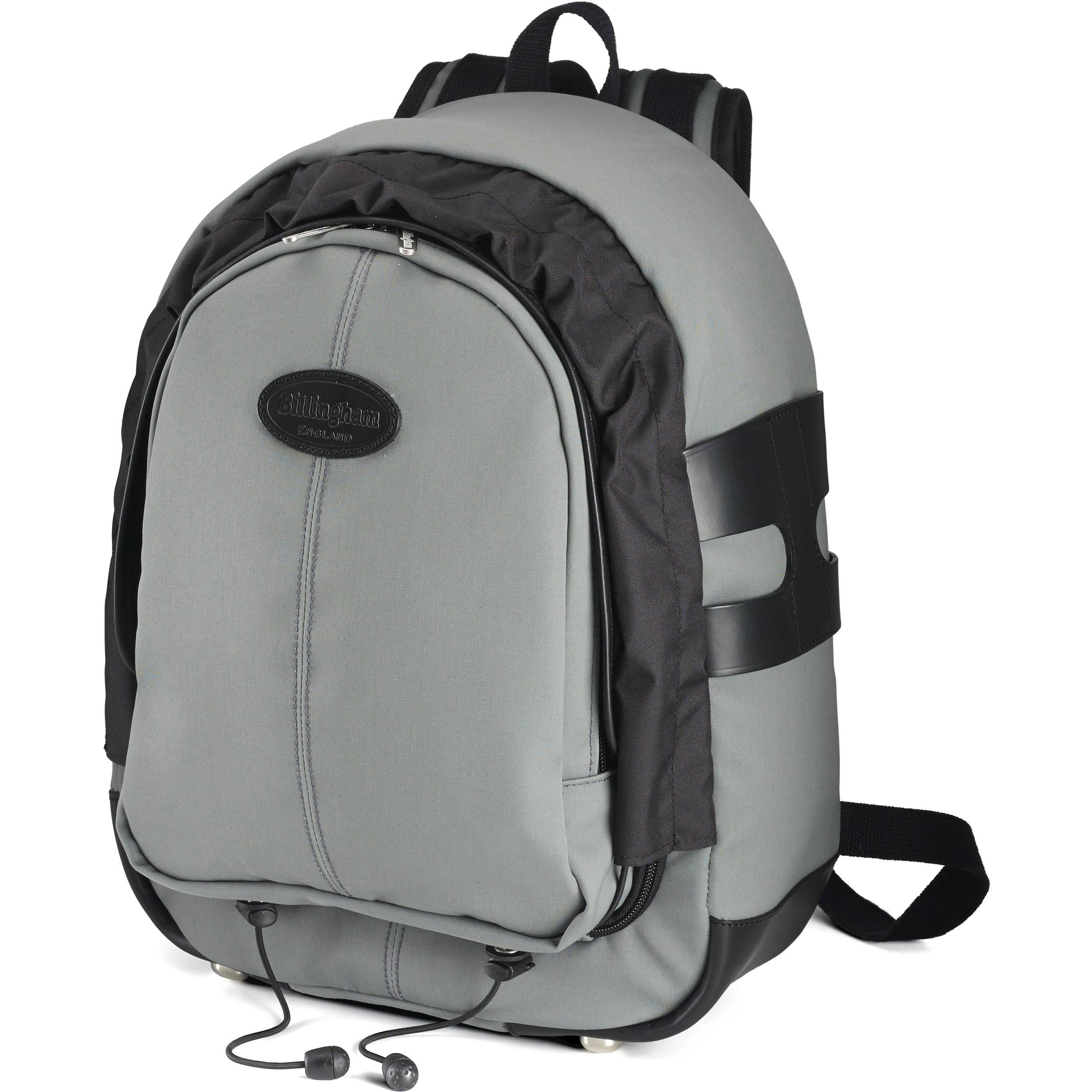 4cef966e8db5d0 Billingham Rucksack 25 (Gray Canvas/Black Leather) 502525-01 B&H