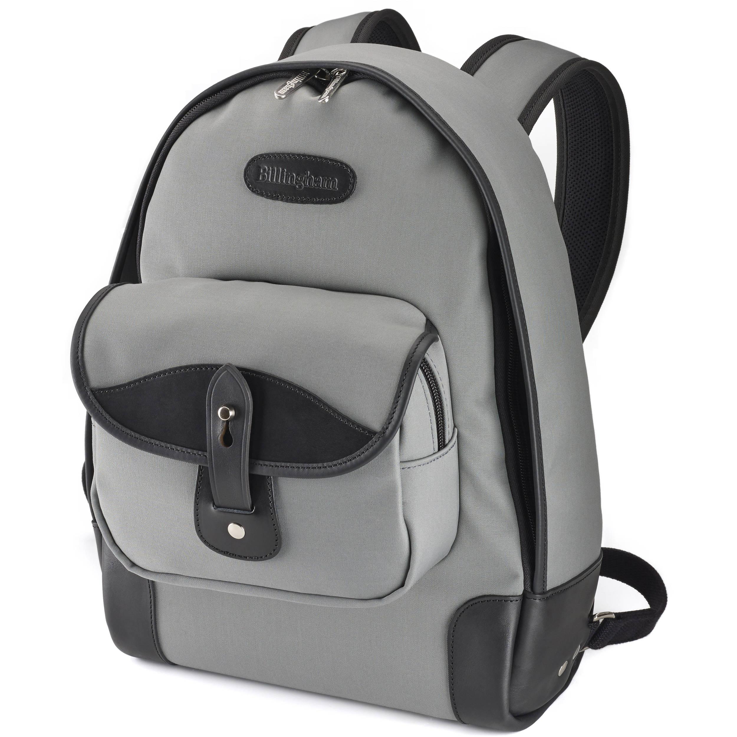 0d507aea06c885 Billingham Rucksack 35 (Gray Canvas/Black Leather) 503125-01 B&H