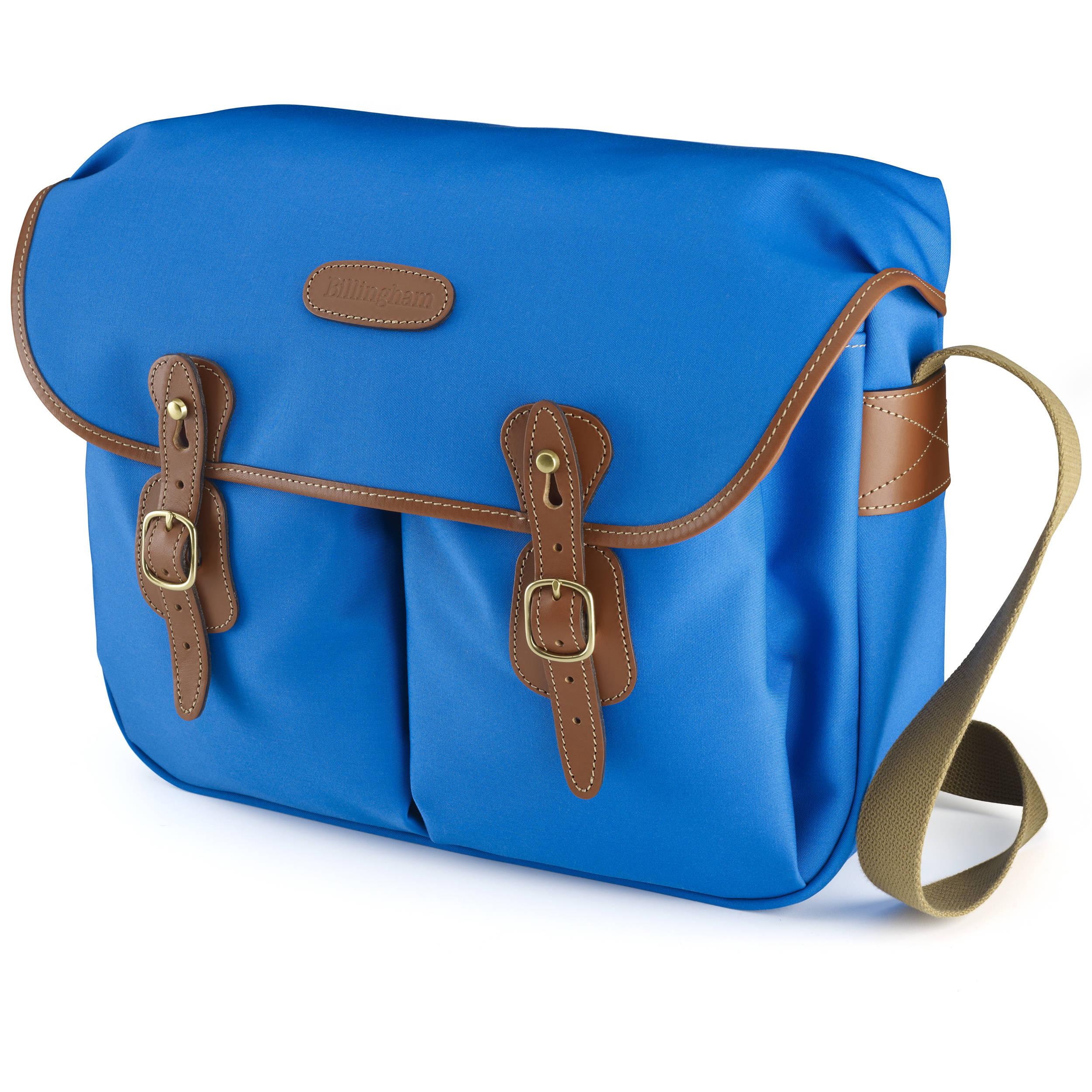 365fa8ffc Billingham Hadley Large Canvas Shoulder Bag (Imperial Blue with Tan Leather  Trim)