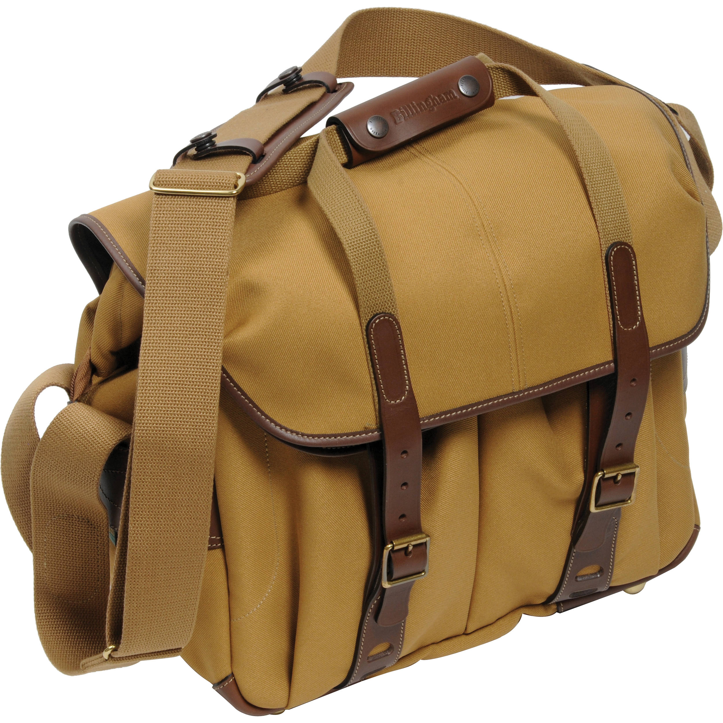 Billingham 307l Camera And Laptop Shoulder Bag Khaki With Chocolate Leather