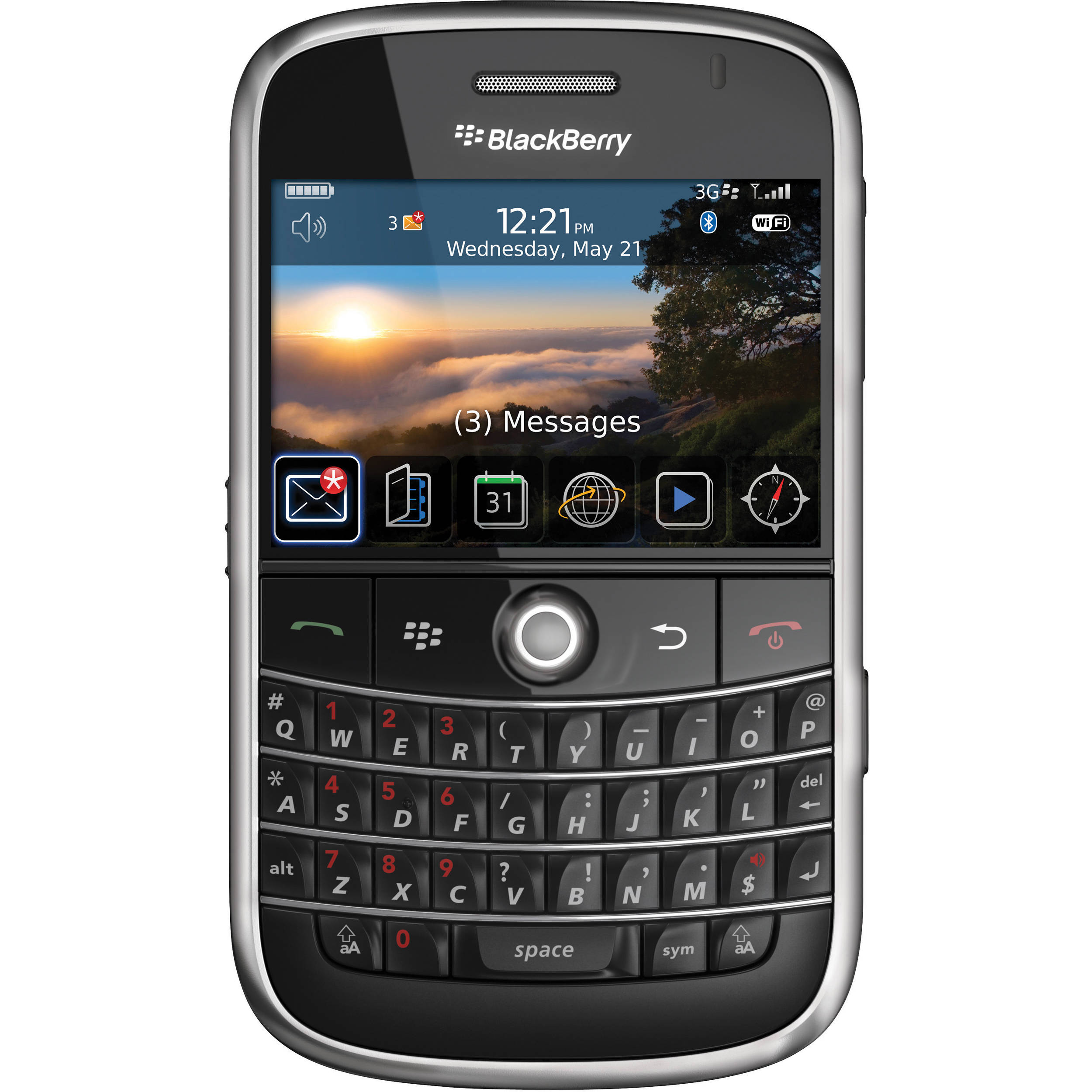 blackberry bold 9000 1gb at t branded smartphone 9000 black. Black Bedroom Furniture Sets. Home Design Ideas