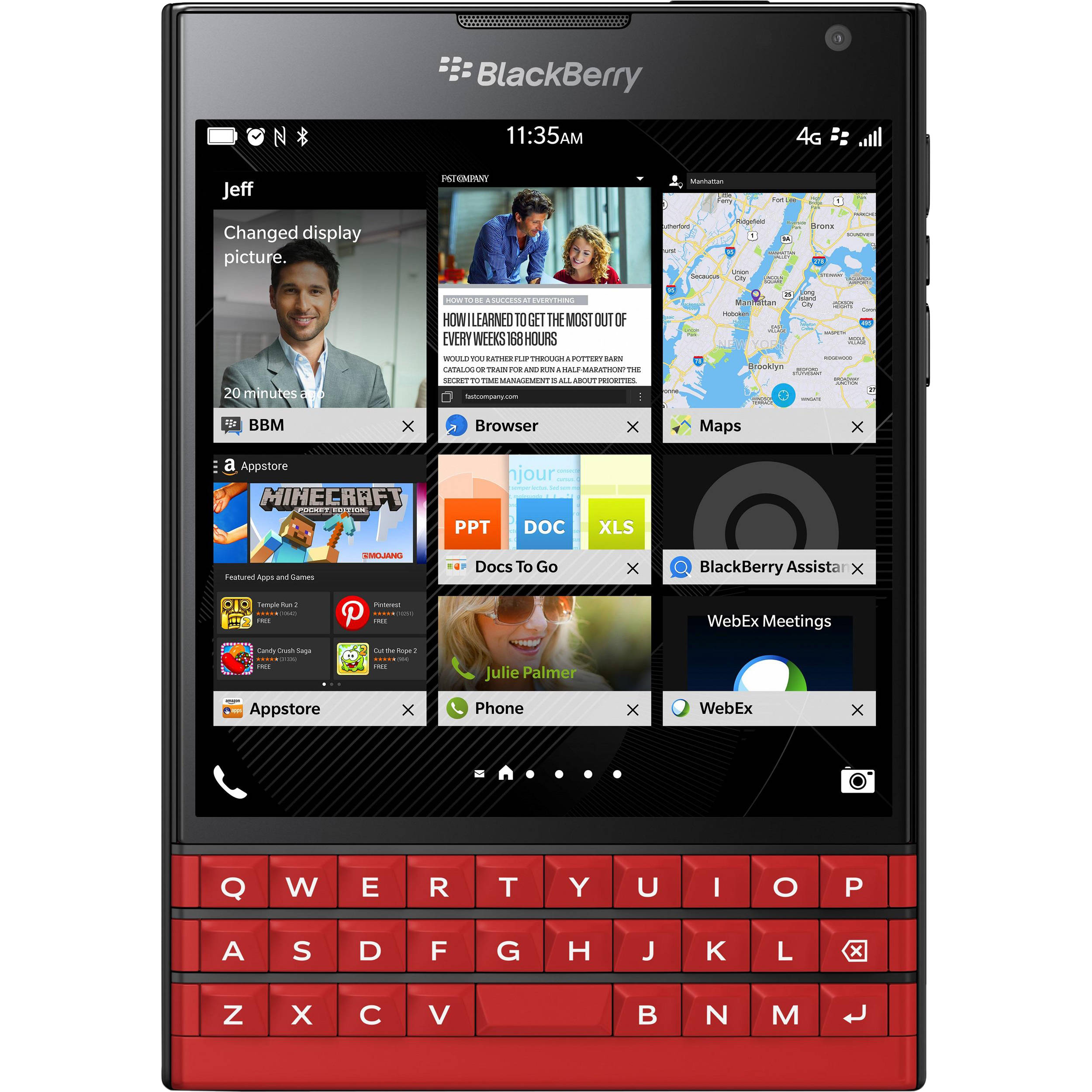 Blackberry passport sqw100 1 32gb smartphone sqw100 1 red bh blackberry passport sqw100 1 32gb smartphone unlocked red reheart Choice Image
