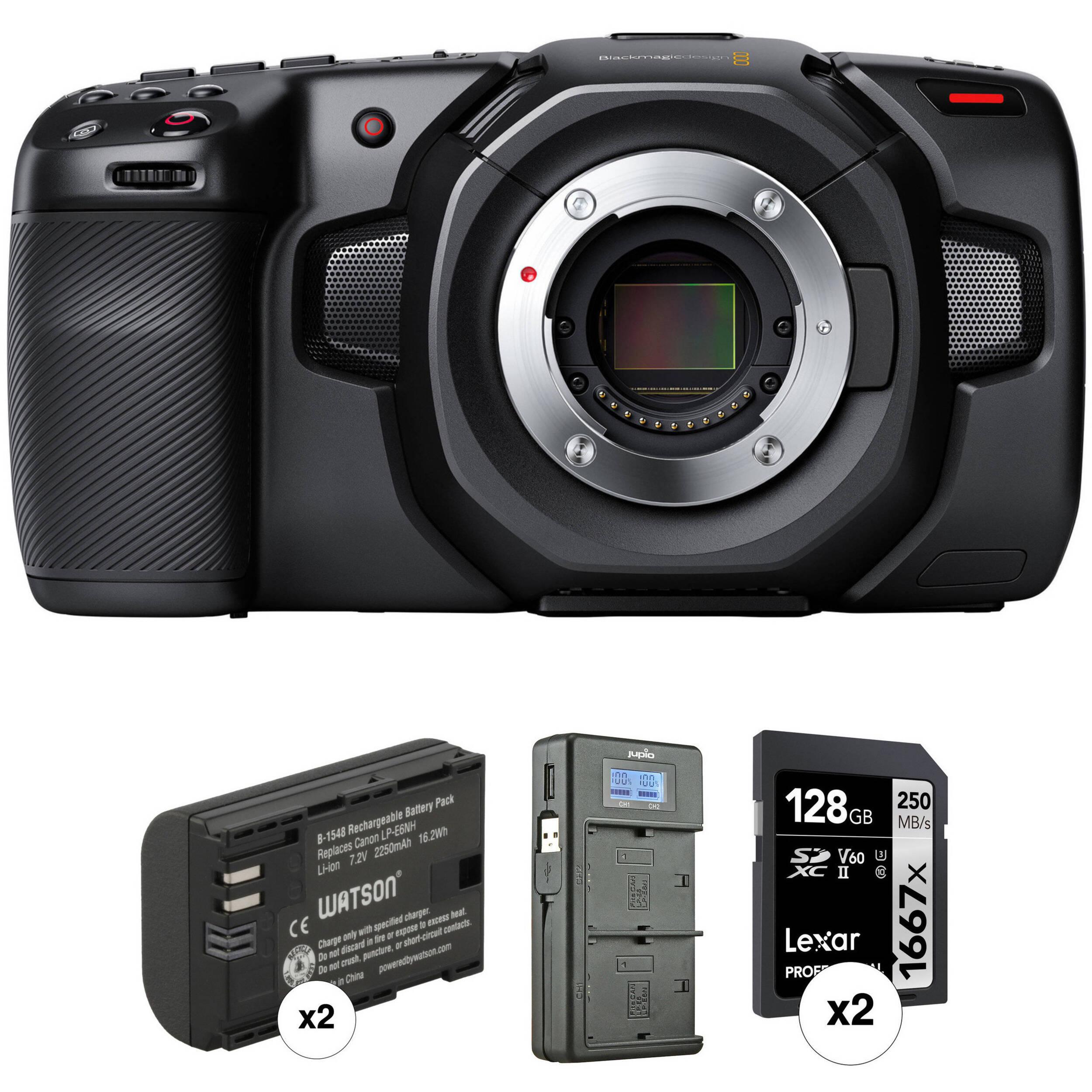 Blackmagic Design Pocket Cinema Camera 4k Kit With 2 X