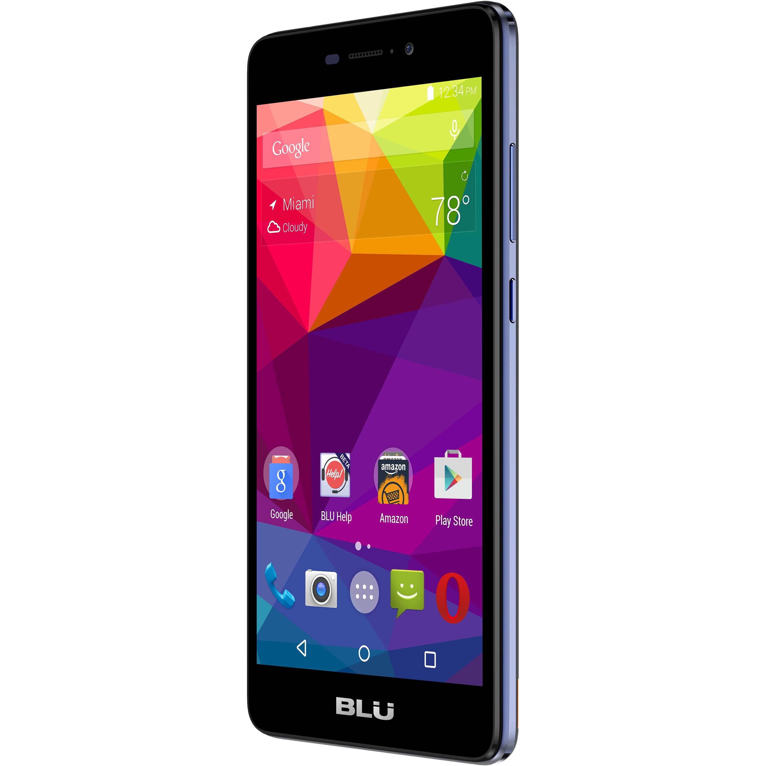 blu life xl l050u 8gb smartphone unlocked black l050u black. Black Bedroom Furniture Sets. Home Design Ideas
