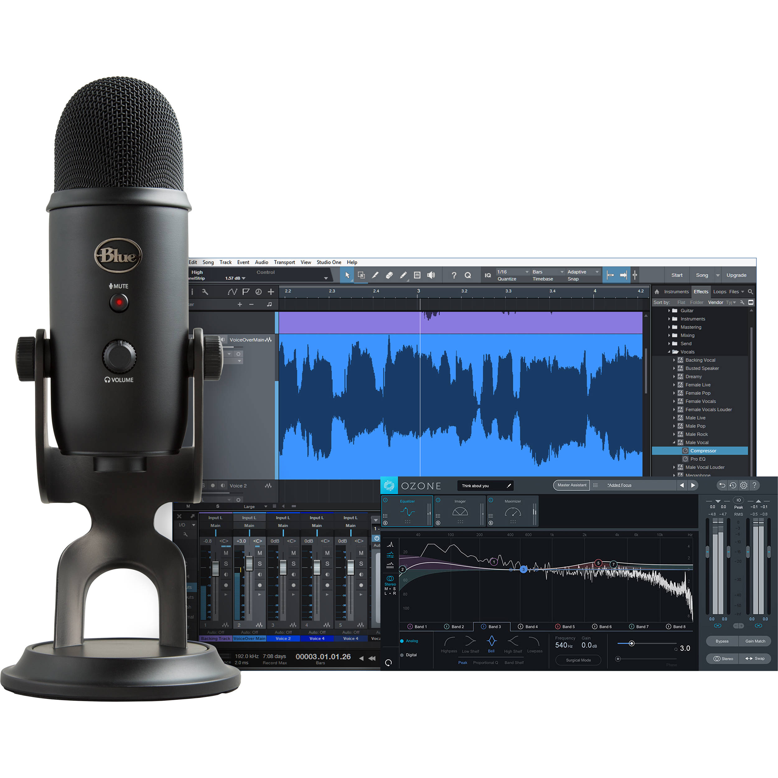 Usb Microphone Effects Software : blue yeti professional recording kit for vocals with usb mic ~ Hamham.info Haus und Dekorationen