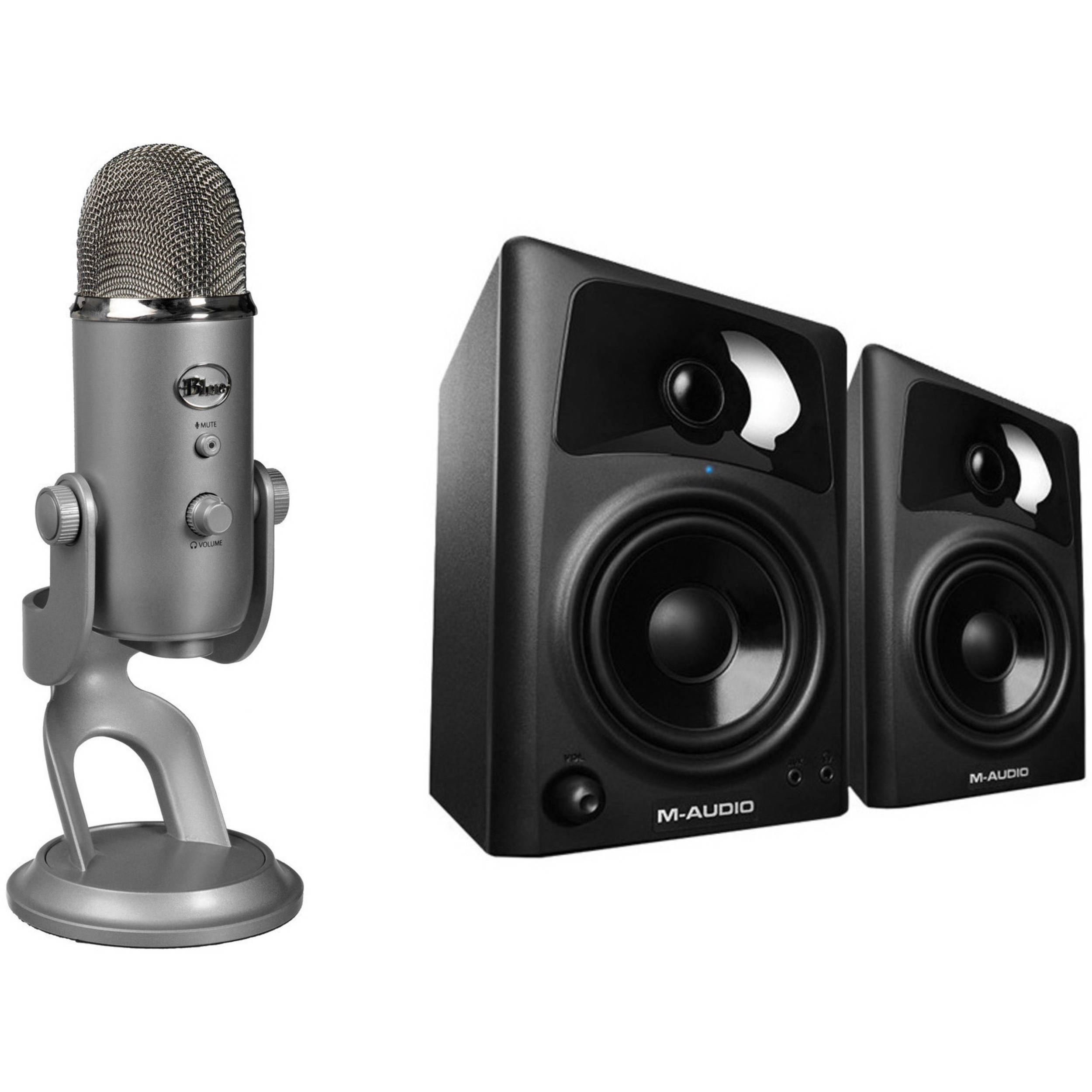 Blue Yeti Usb Microphone Monitor Speaker Kit