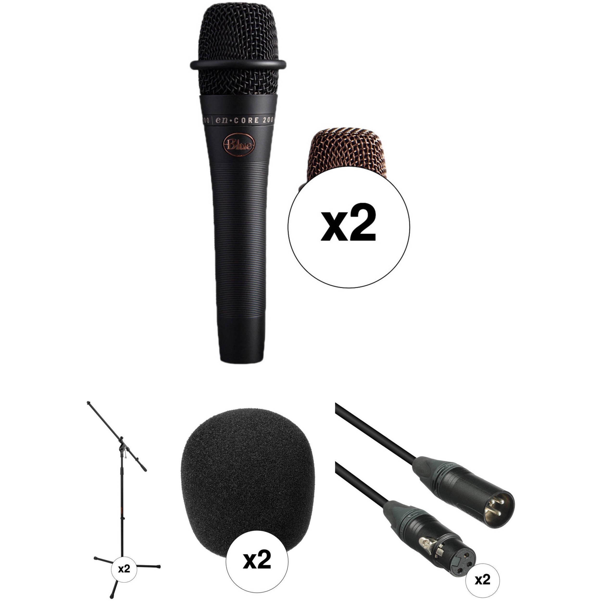 Blue Dual enCORE 200 Active Dynamic Handheld Vocal Microphones