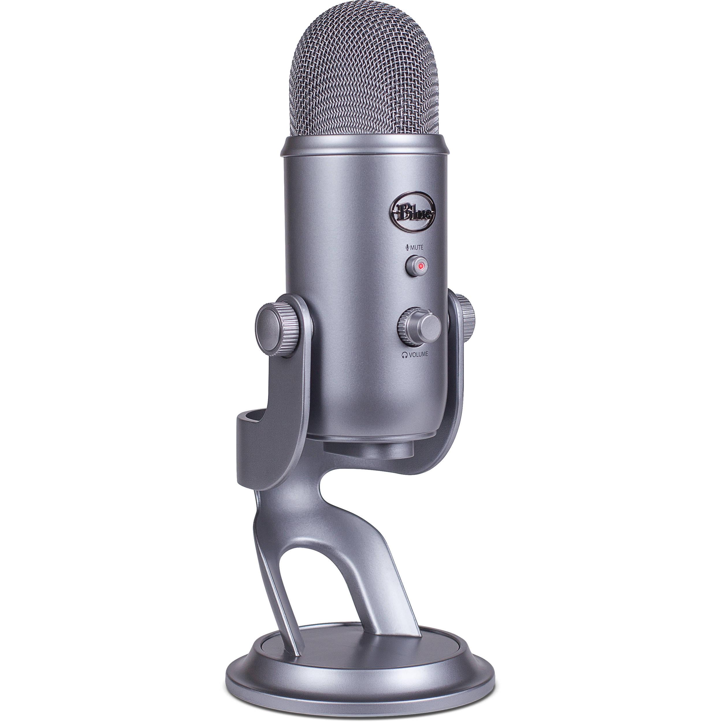 Blue Yeti USB Microphone (Cool Gray) YETI COOL GREY B&H Photo