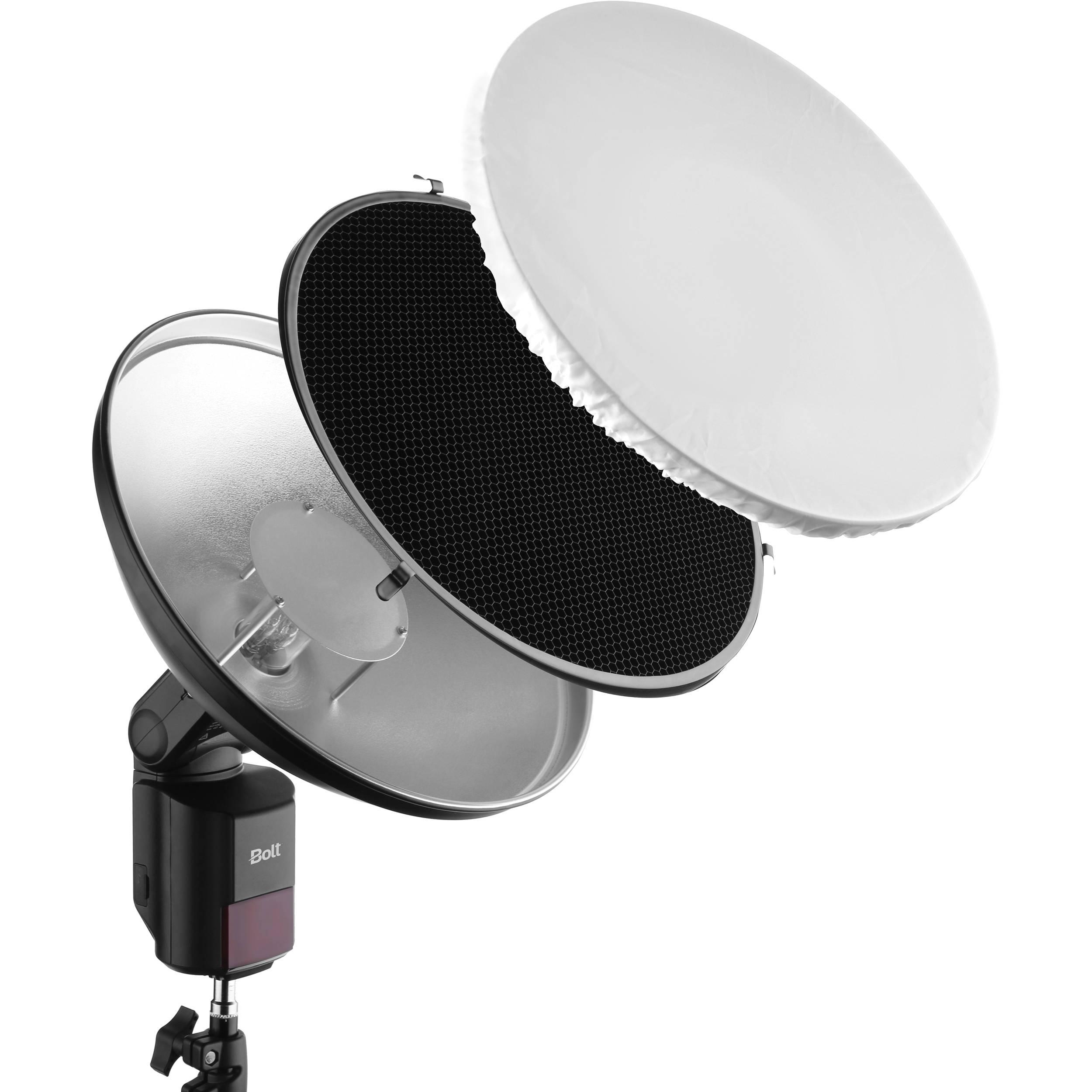 Bolt Beauty Dish And Grid Kit For Vb Series Bare Bulb Vb Bdk B H