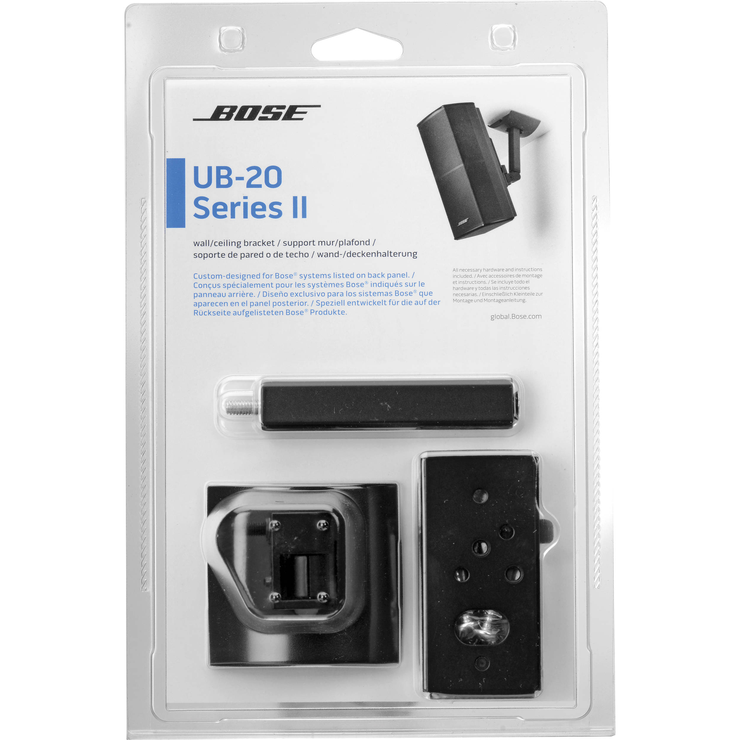 Bose UB-20 Series II Wall/Ceiling Bracket (Black) 722141-0010