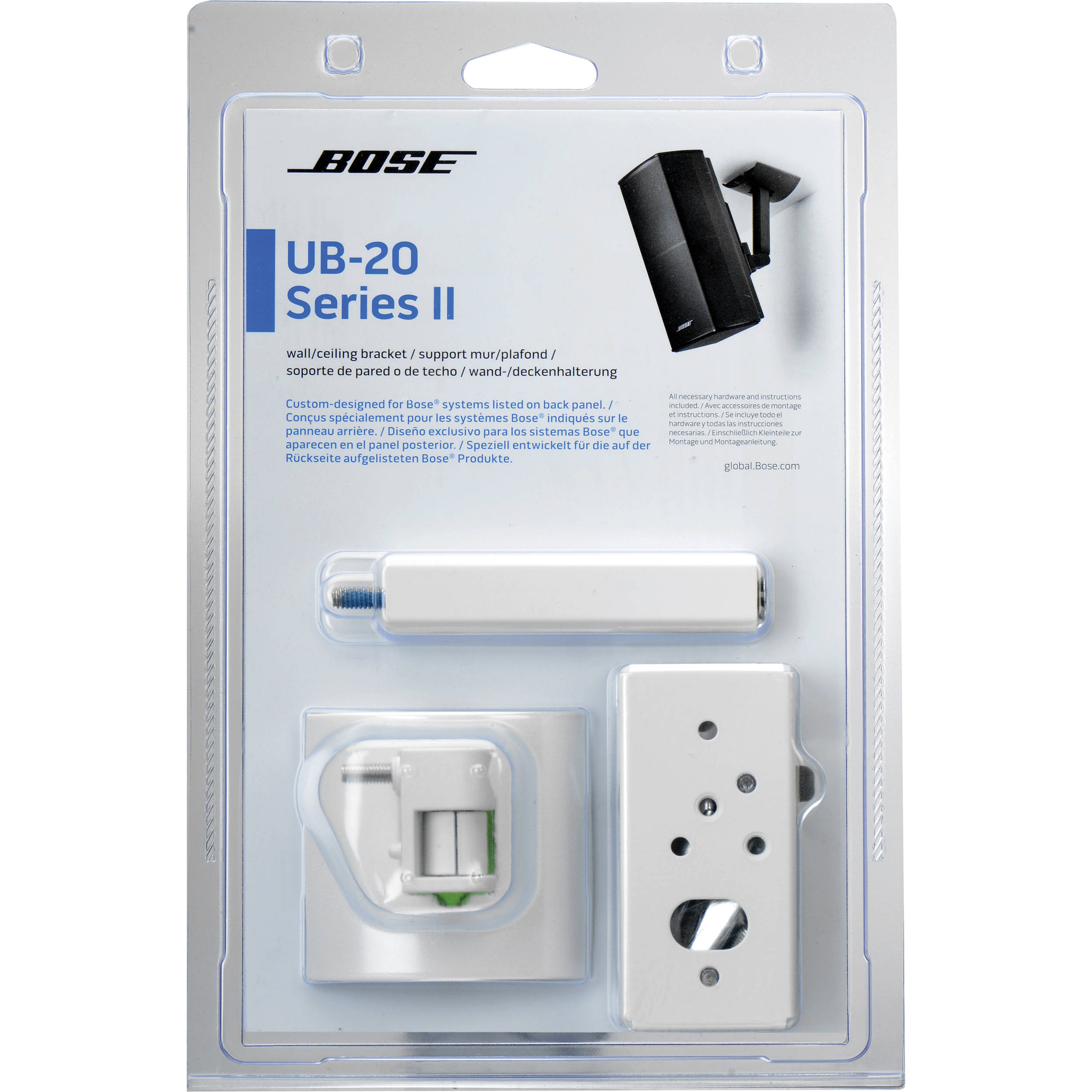 Bose ub 20 series ii wall ceiling bracket white 722141 0020 for Montage stand