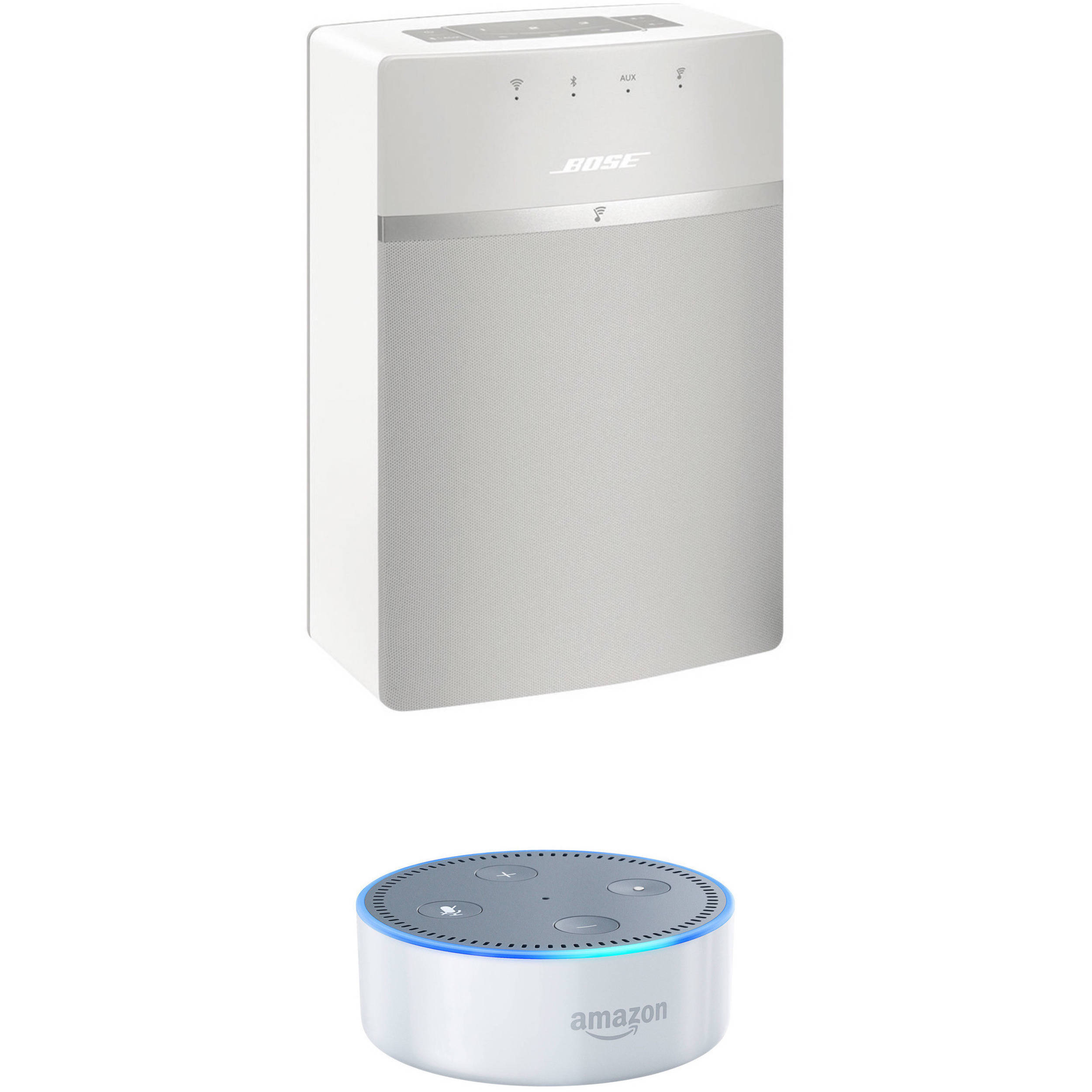 bose soundtouch 10 wireless music system and amazon echo dot. Black Bedroom Furniture Sets. Home Design Ideas