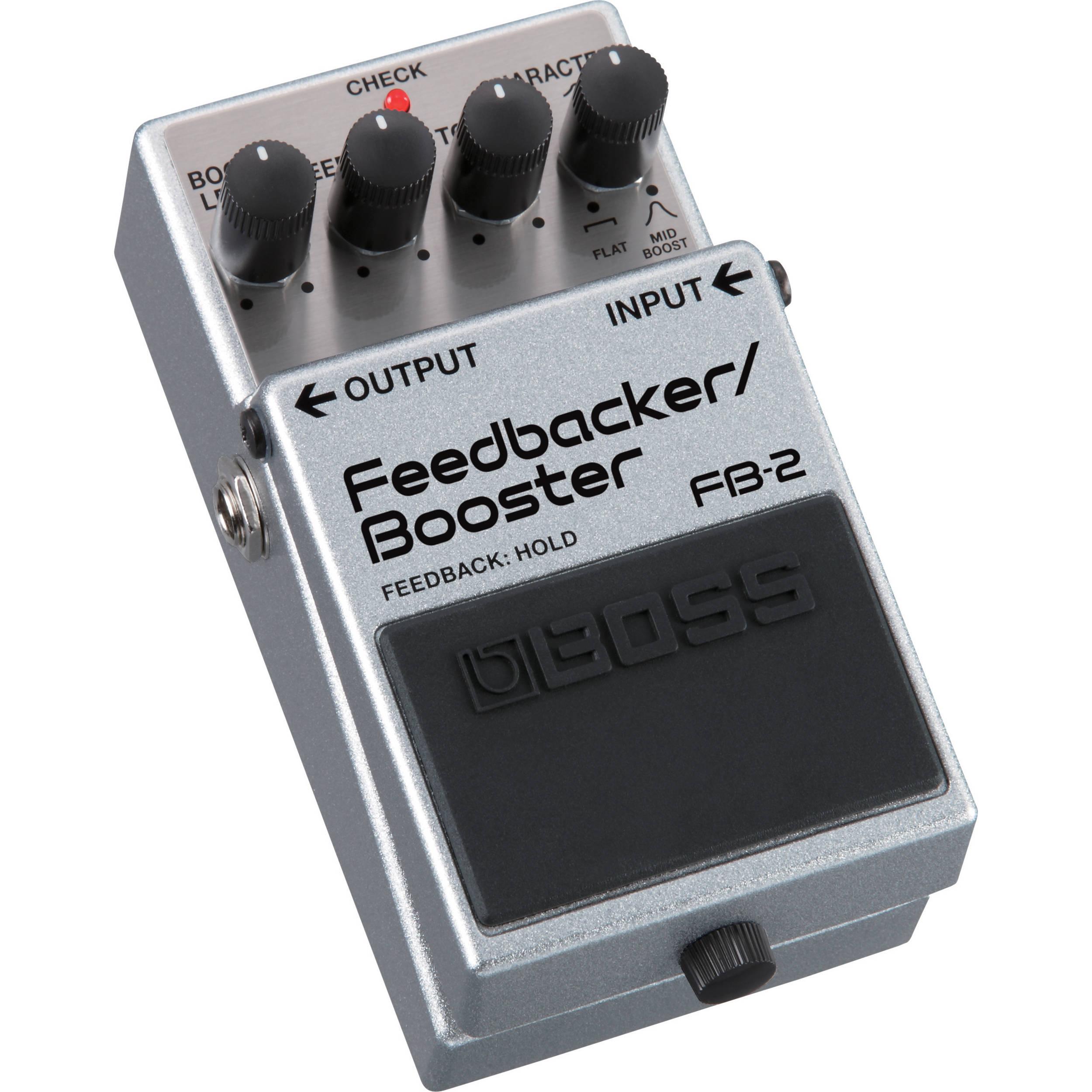 boss fb 2 feedbacker booster guitar pedal fb 2 b h photo video. Black Bedroom Furniture Sets. Home Design Ideas