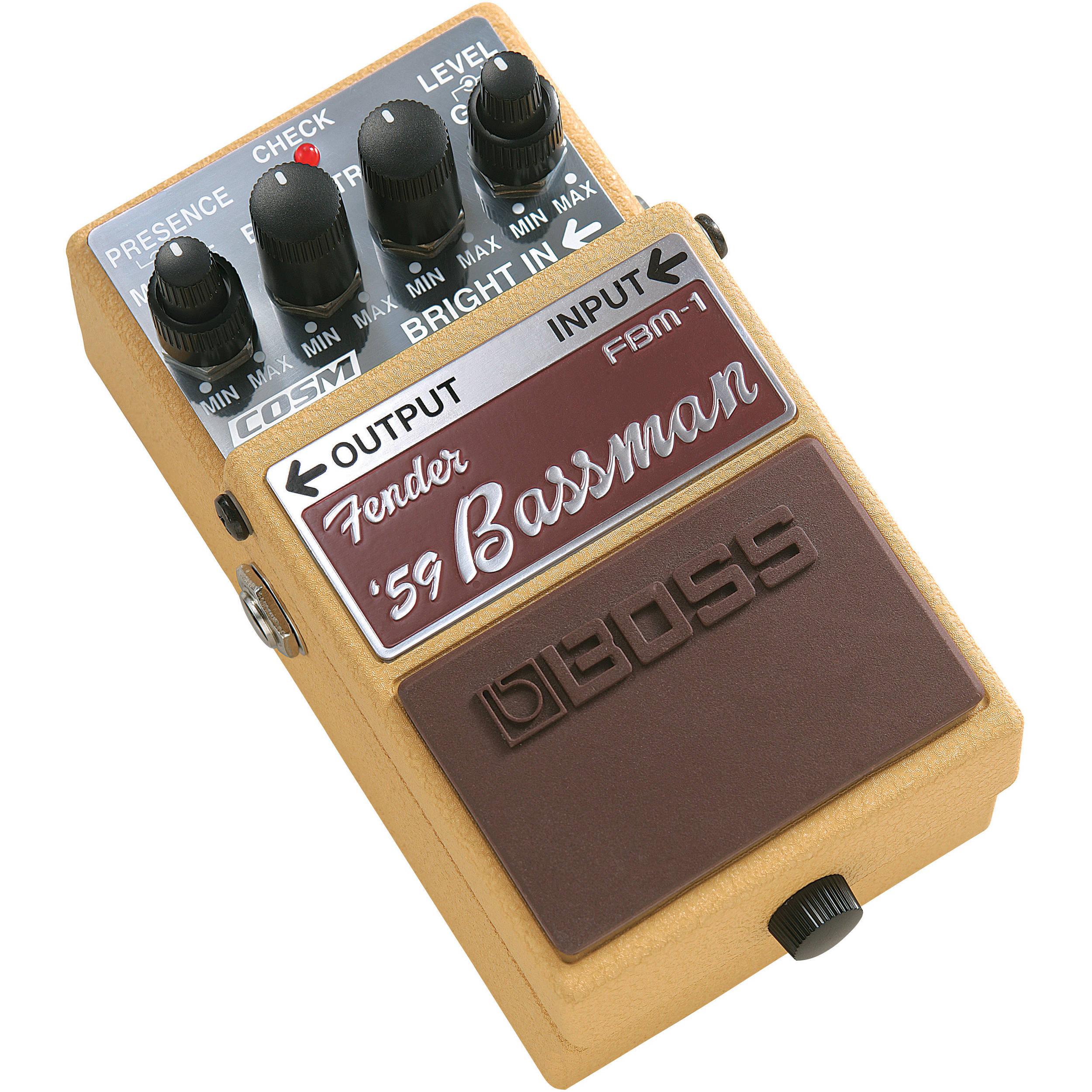boss fbm 1 fender 39 59 bassman pedal fbm 1 b h photo video. Black Bedroom Furniture Sets. Home Design Ideas