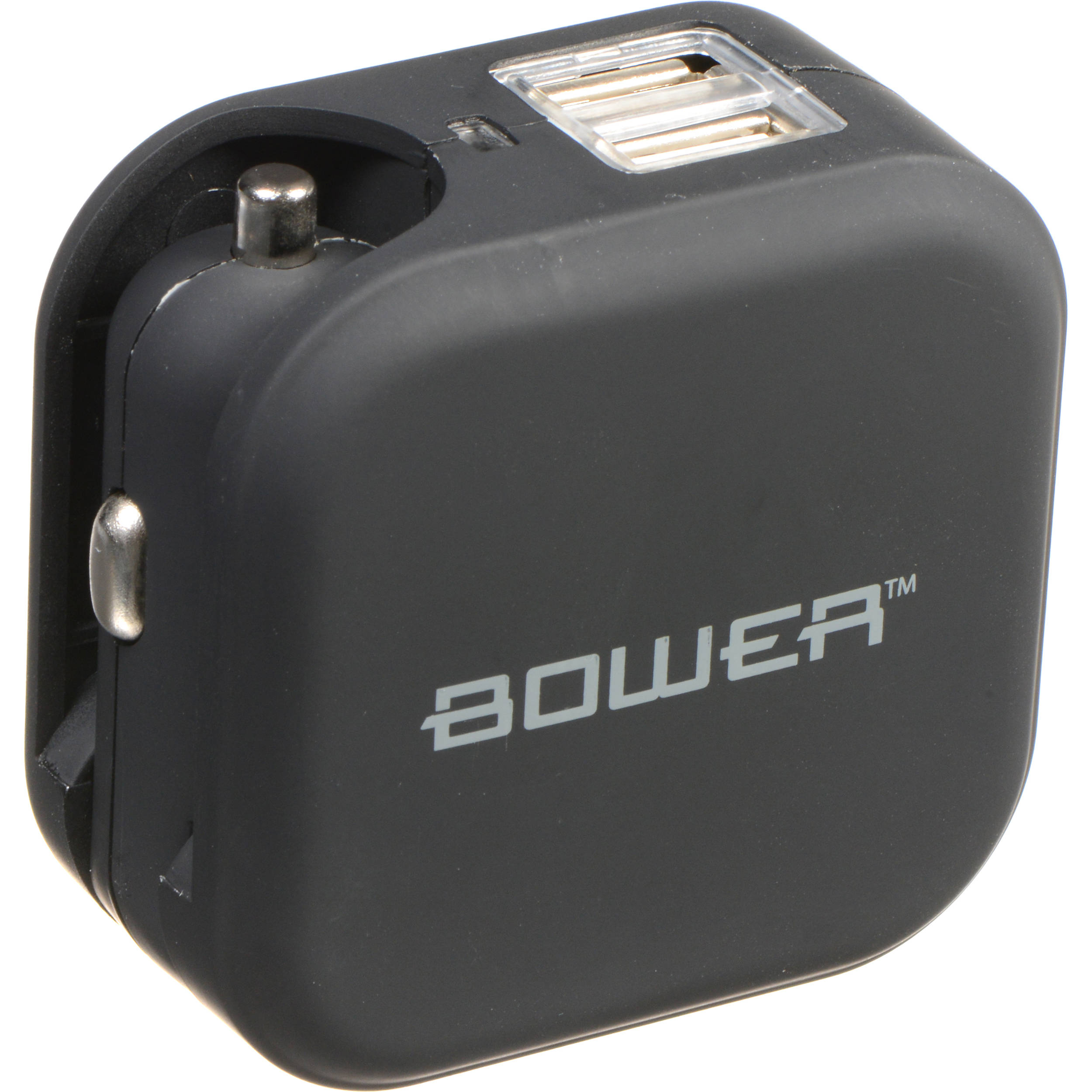 Bower Usb Wall And Car Charger Black