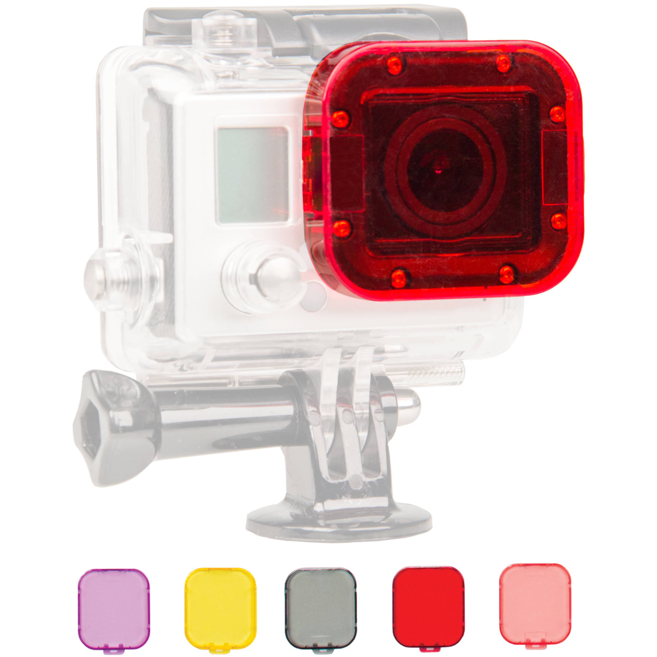 Bower Xtreme Action Series 6-Piece Filter Kit for GoPro Dive Housing for Hero  3