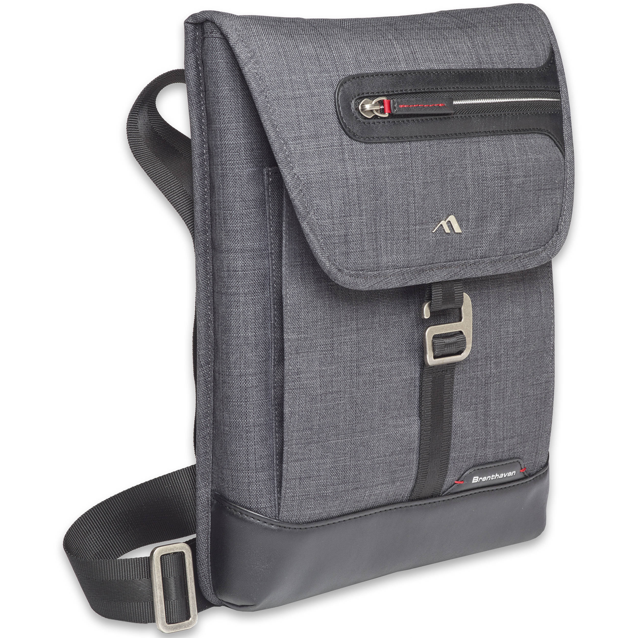 Bhaven Collins Vertical Messenger Bag For 13 Laptop Graphite