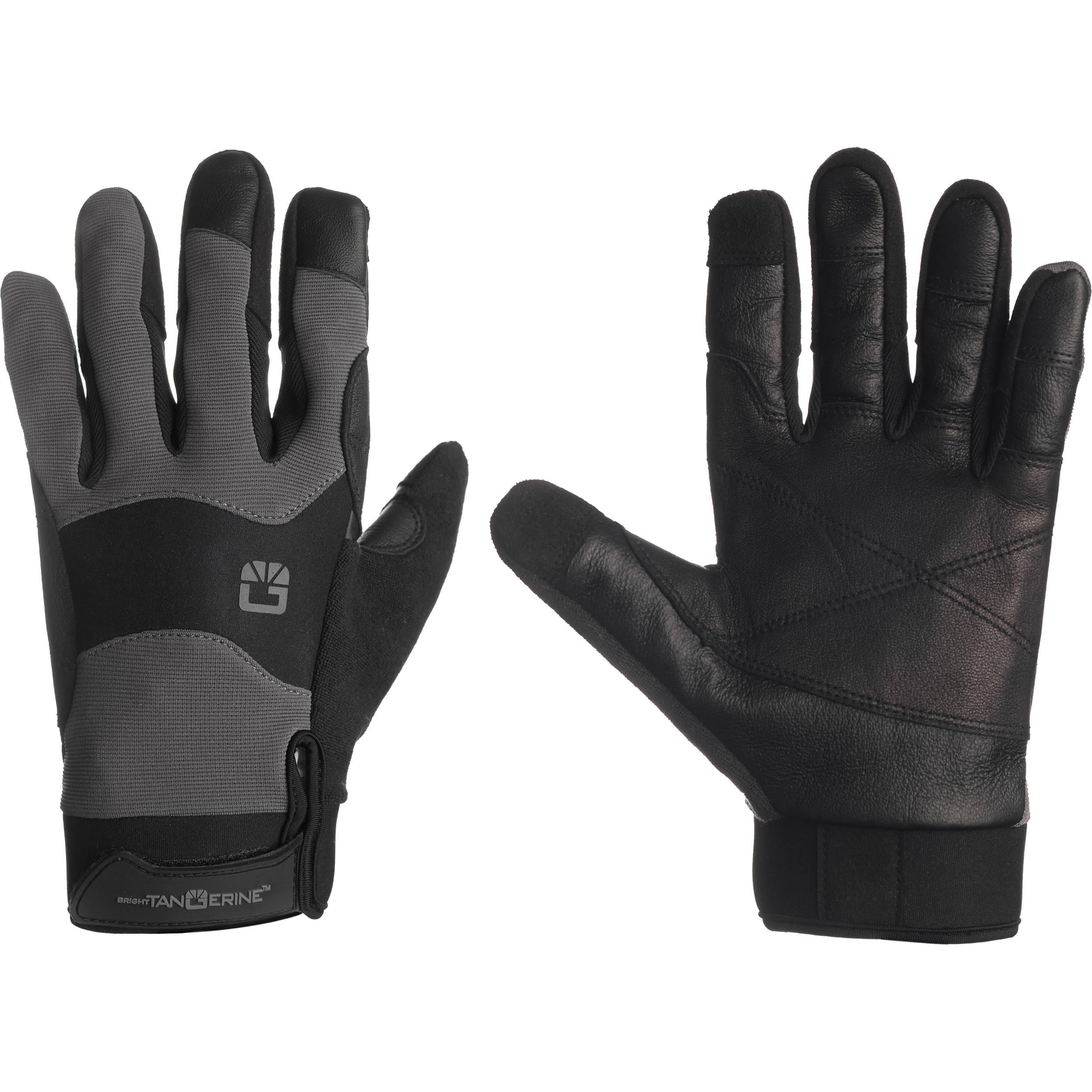 b1eb28908e0e Bright Tangerine ExoSkin Leather Armour Gloves (L) B1300.1006