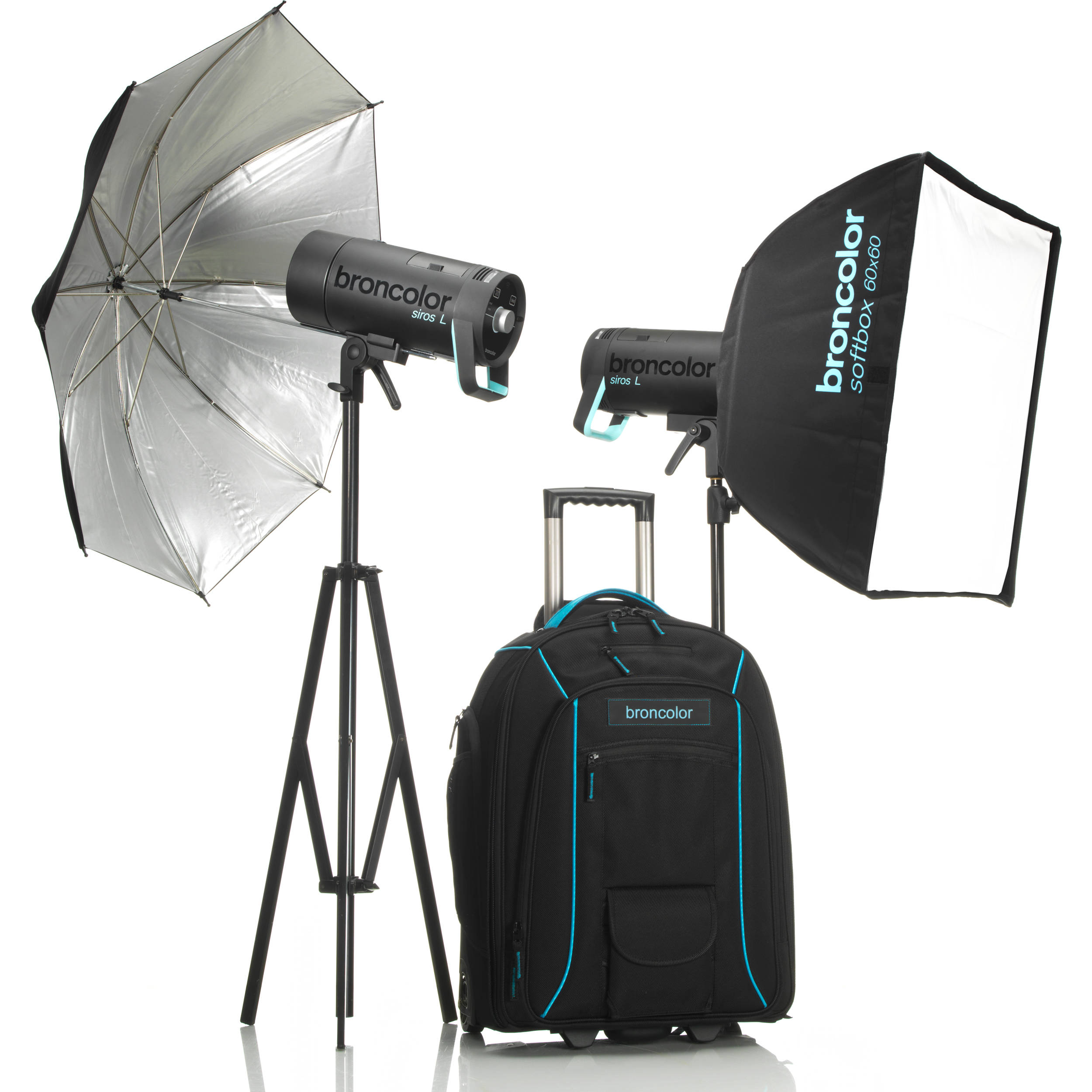 Broncolor siros l 400ws battery powered 2 light b 3175007 bh battery powered 2 light outdoor kit 2 stand s not included aloadofball Gallery