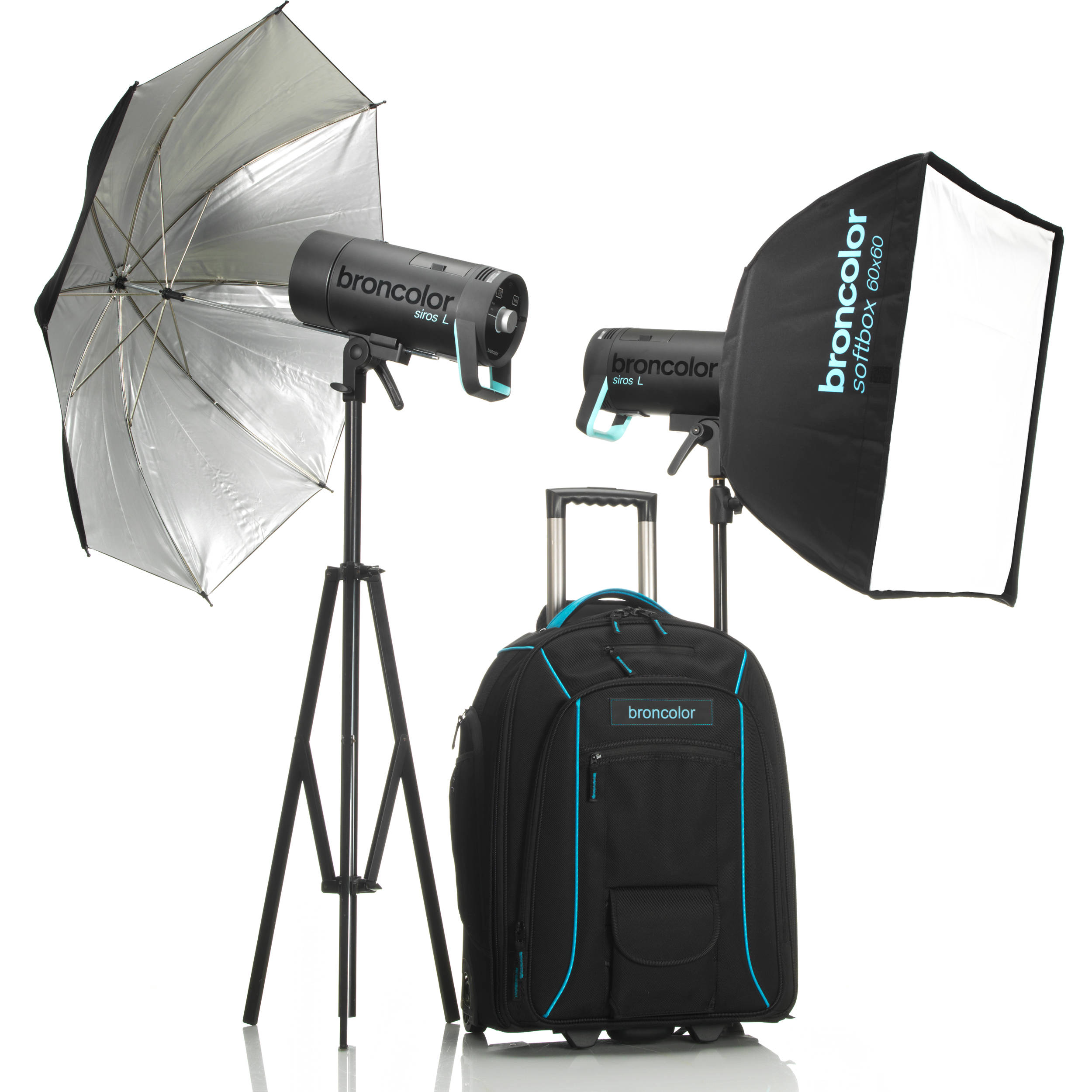 Broncolor siros l 800ws battery powered 2 light b 3175107 bh battery powered 2 light outdoor kit 2 stand s not included aloadofball Gallery