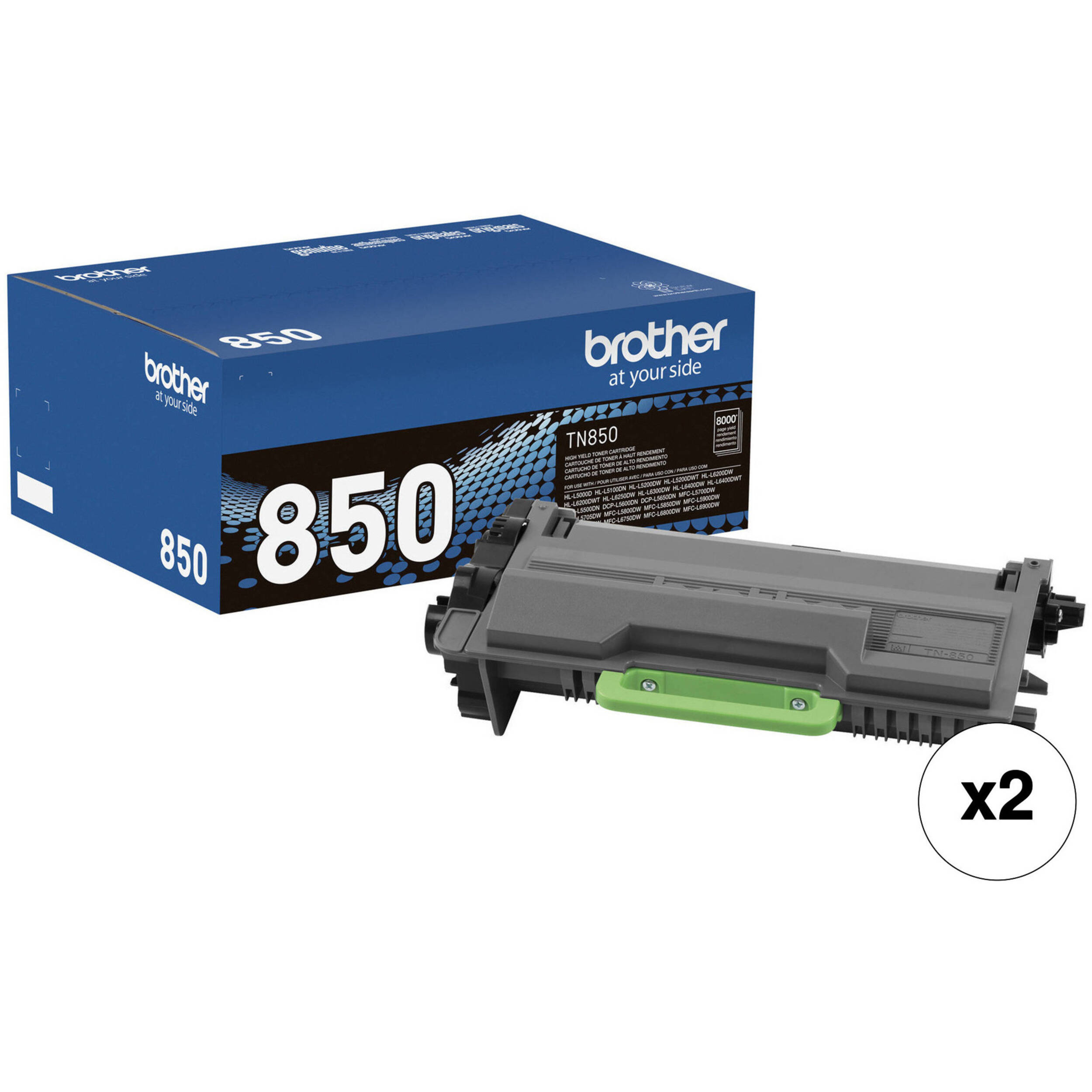 2 - Pack TN-890 Compatible Black Toner Cartridge Nov Replacement for Brother TN890
