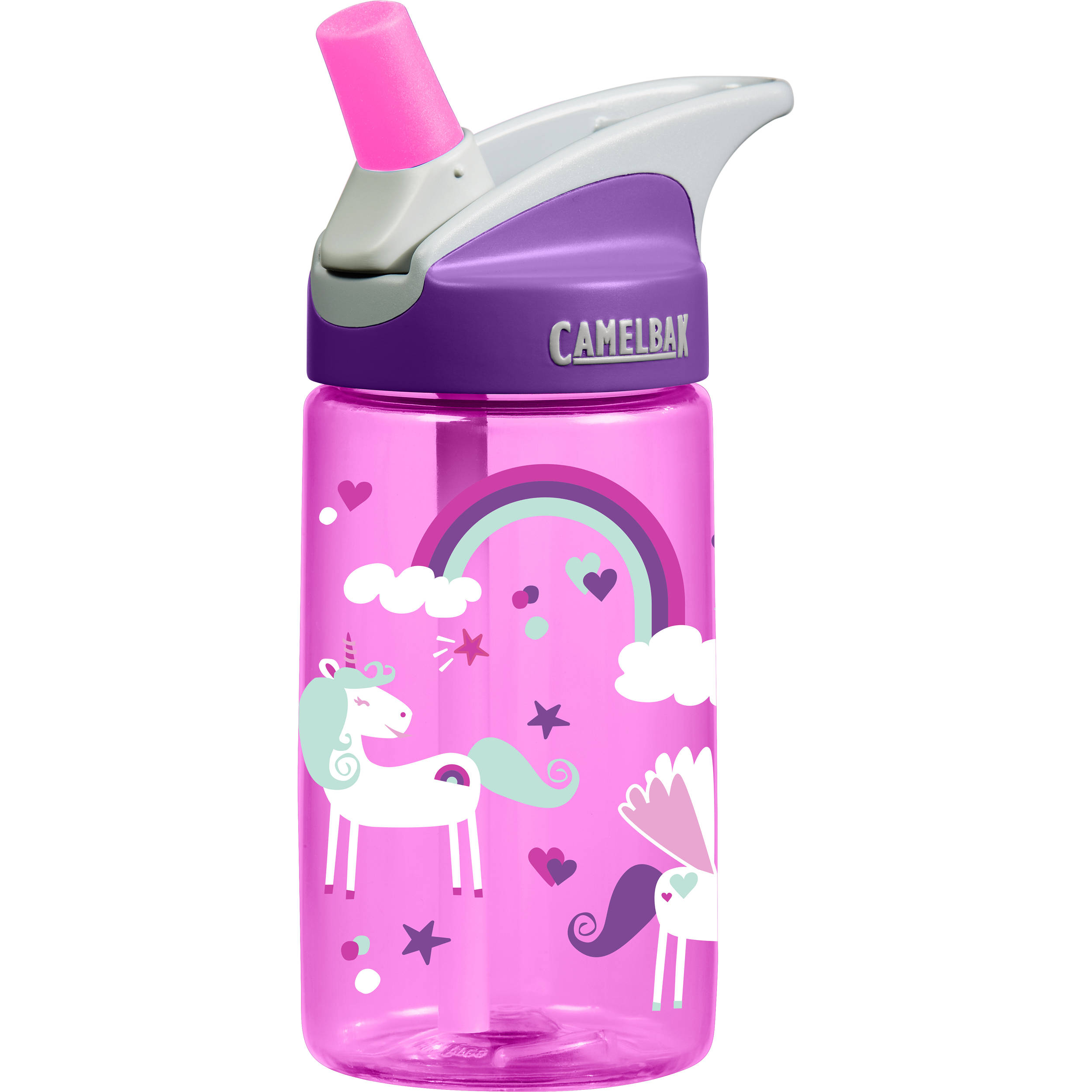 camelbak eddy kids water bottle 12 fl oz unicorns 53861 b u0026h