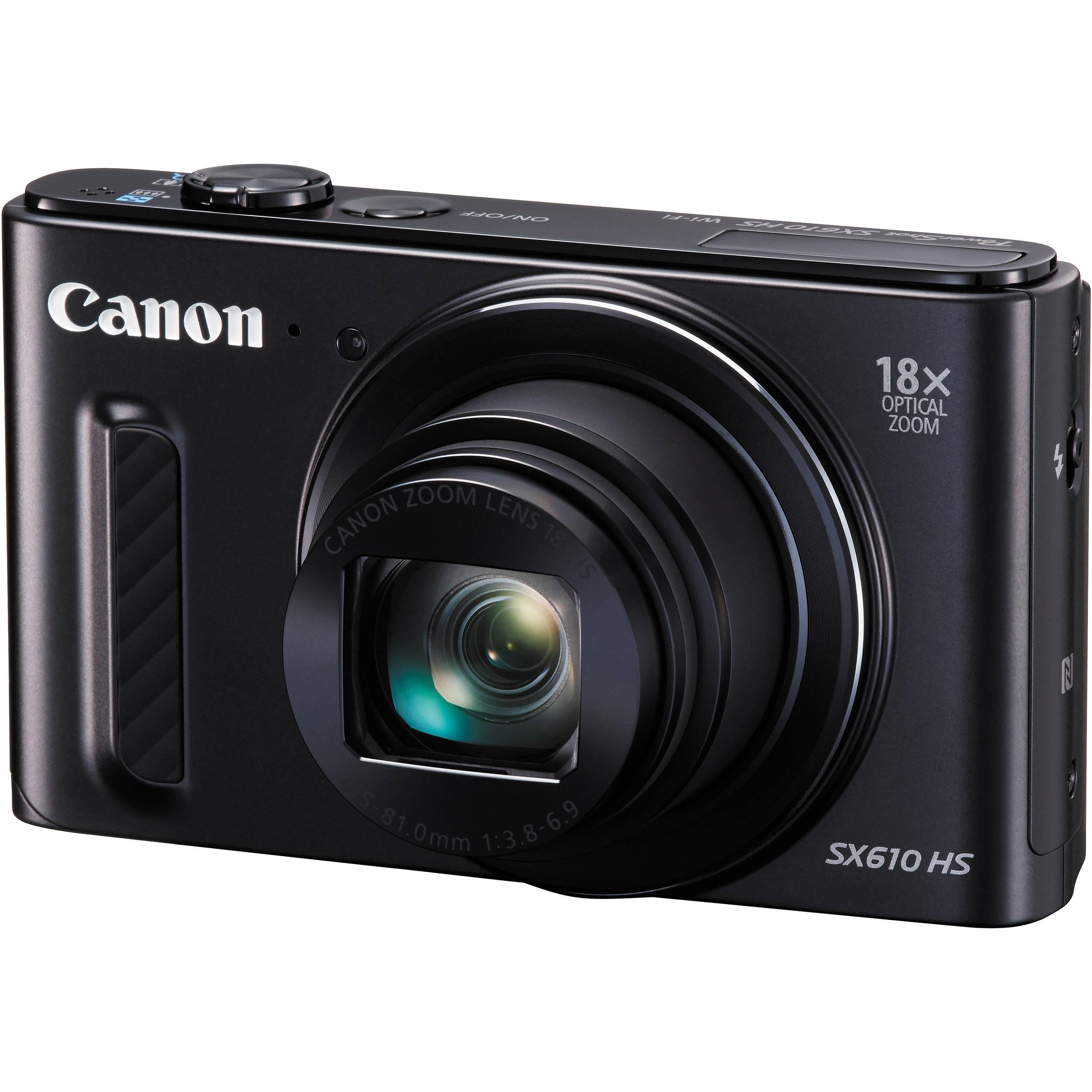Canon PowerShot SX610 HS Digital Camera (Black) 0111C001 B&H