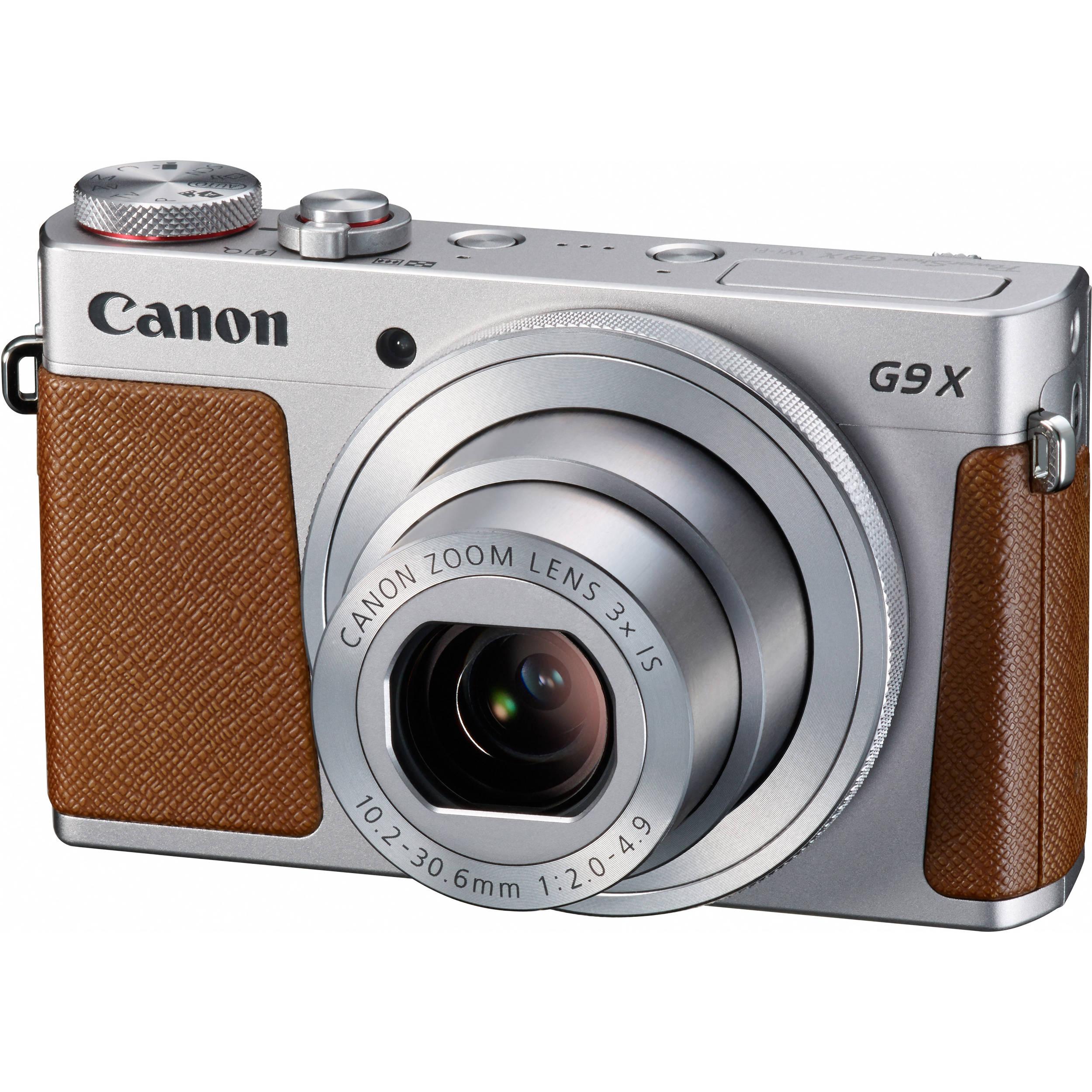 Canon PowerShot G9 X Digital Camera (Silver) 0924C001 B&H Photo