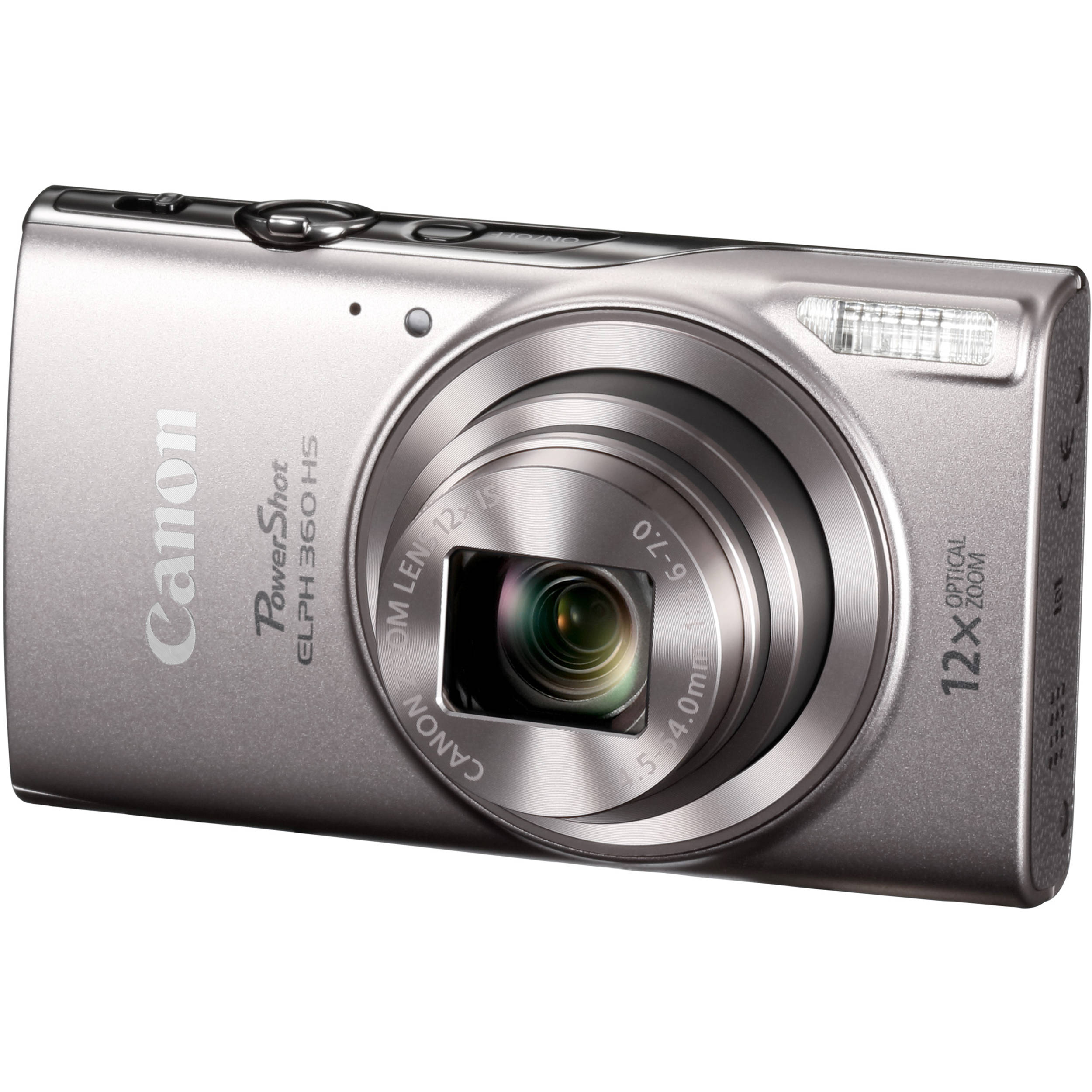 Canon Shot Elph 360 Hs Digital Camera Silver