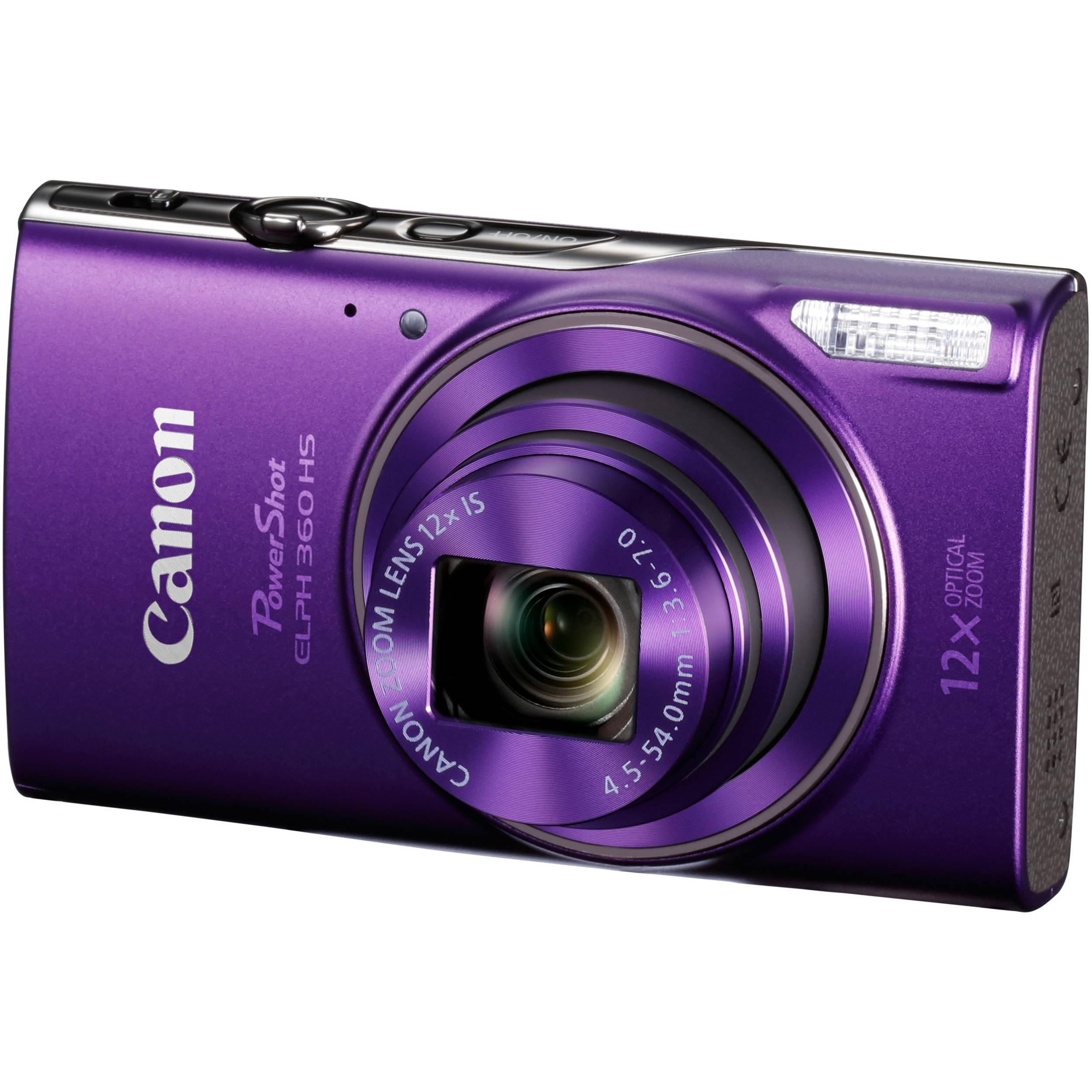 Canon Shot Elph 360 Hs Digital Camera Purple