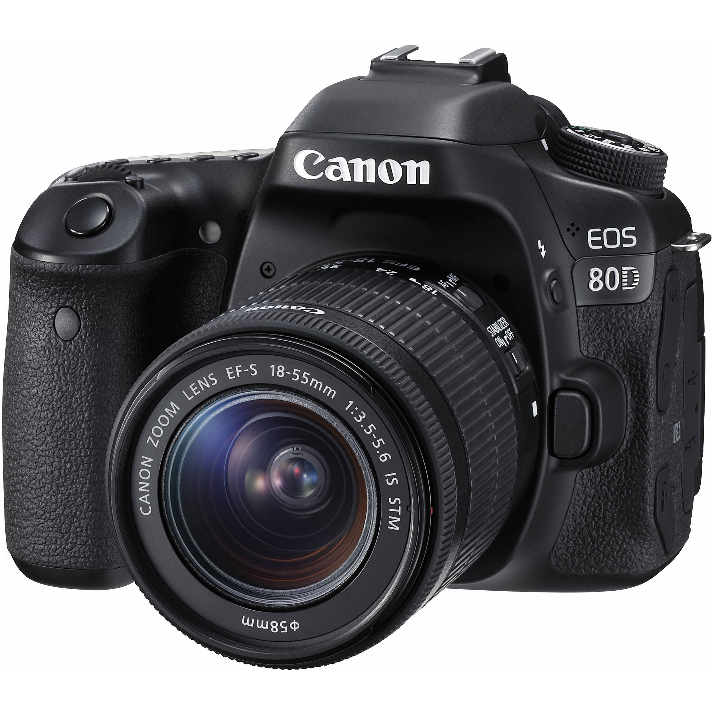 Canon EOS 80D DSLR Camera with 18 55mm Lens 1263C005 B&H