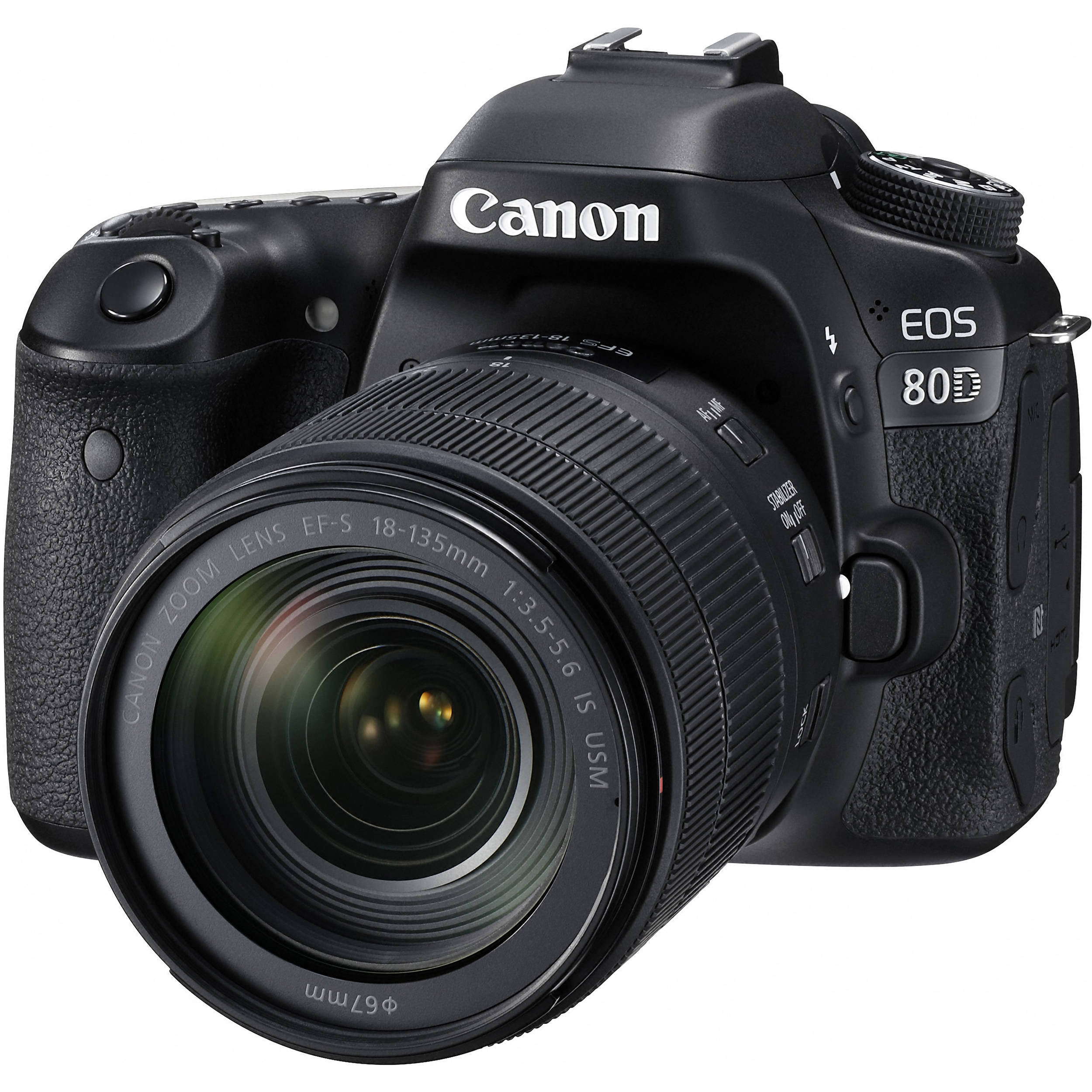 Camera How Much Are Dslr Cameras canon eos 80d dslr camera with 18 135mm lens 1263c006 bh photo lens