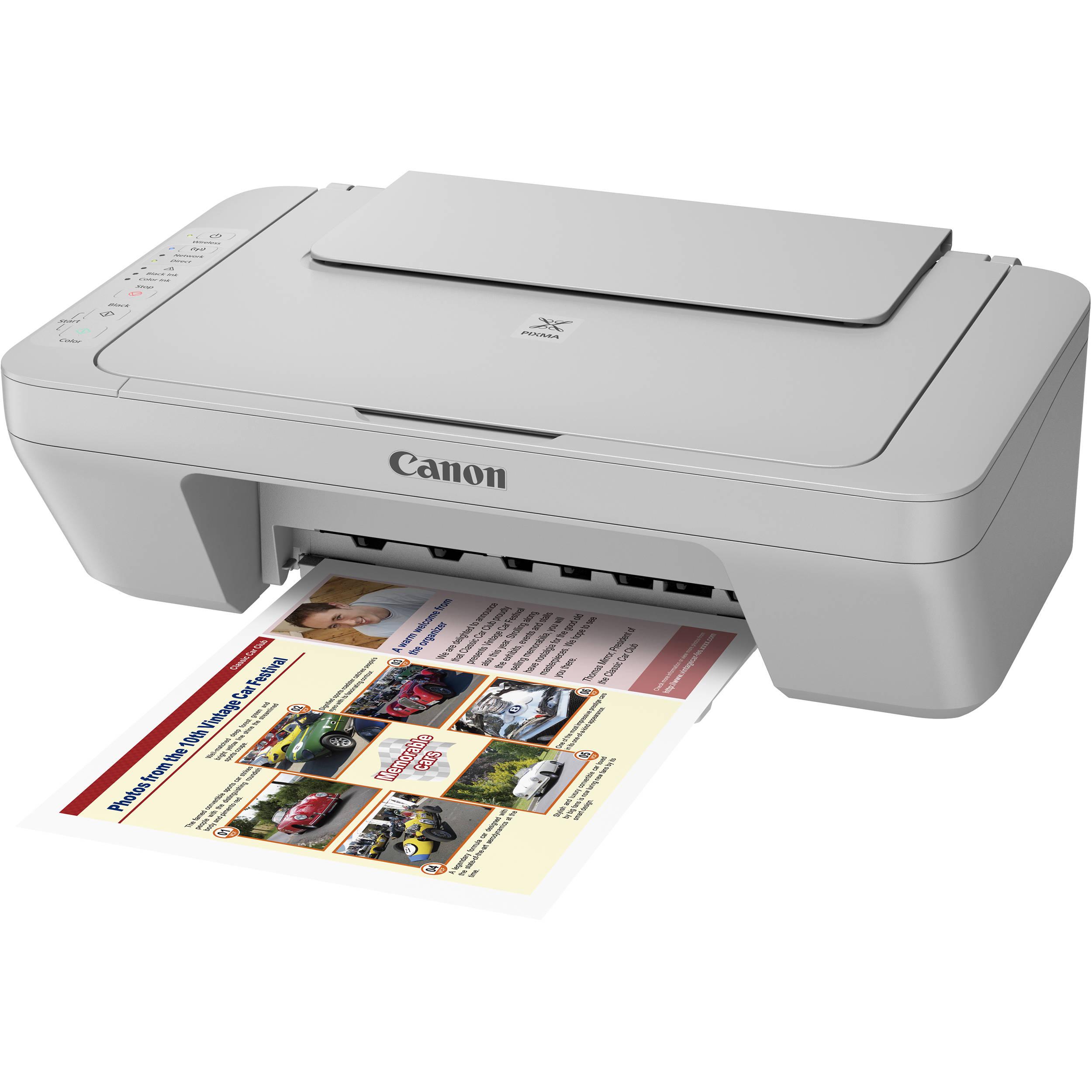 Canon PIXMA MG3020 Wireless All In One Inkjet Printer Gray