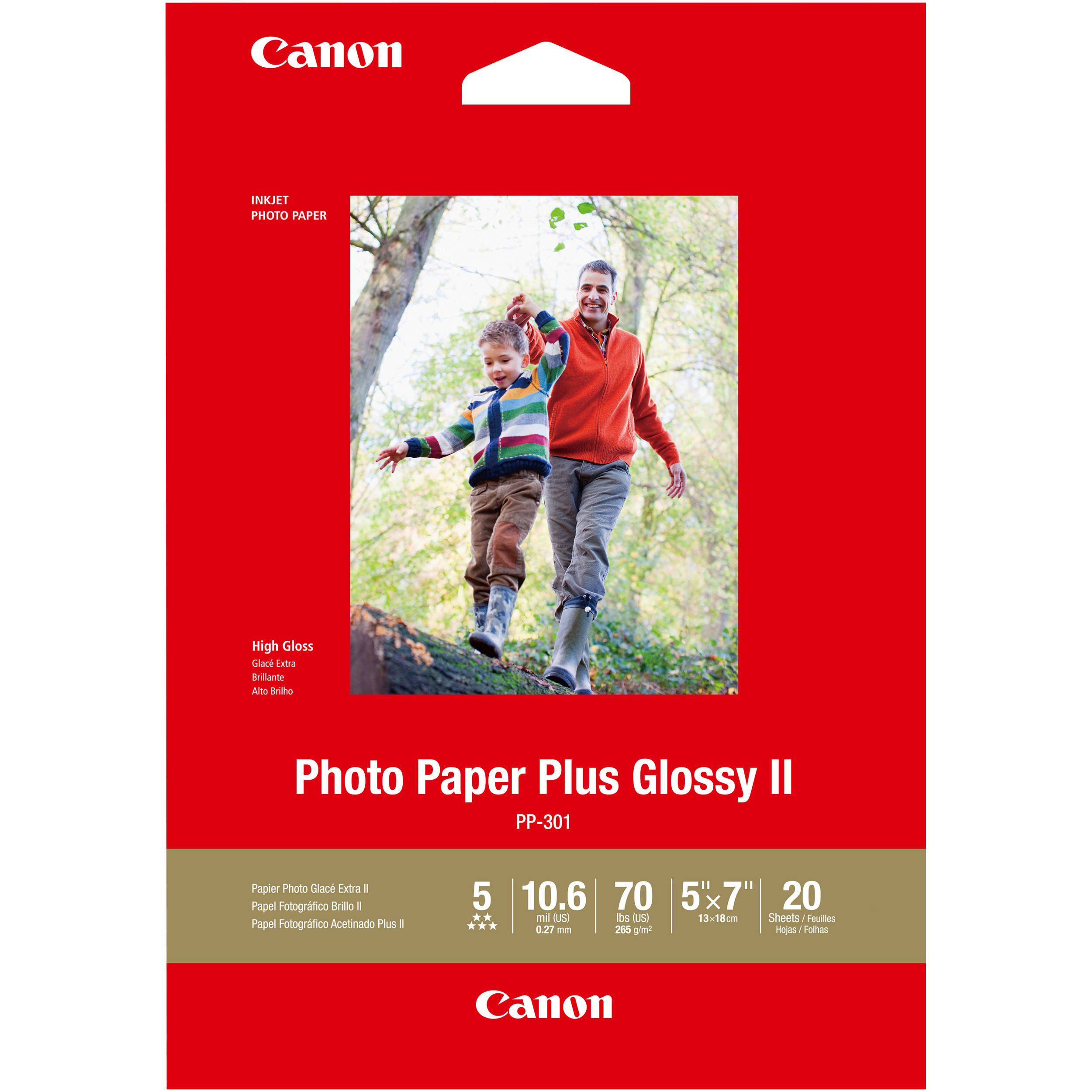 Canon Pp 301 Photo Paper Plus Glossy Ii 1432c002 Bh Photo Video