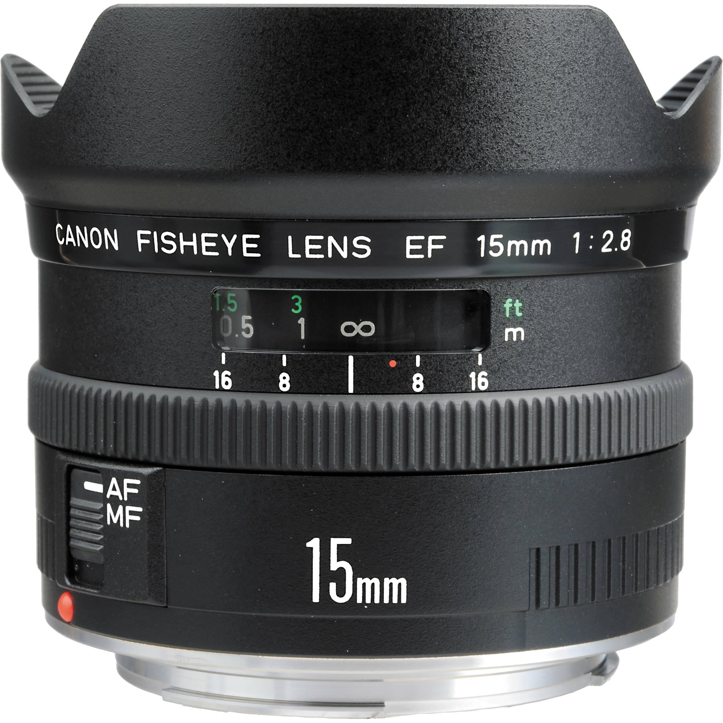 Canon fisheye ef 15mm f 2 8 autofocus lens 2535a003 b h photo for Fish eye lense
